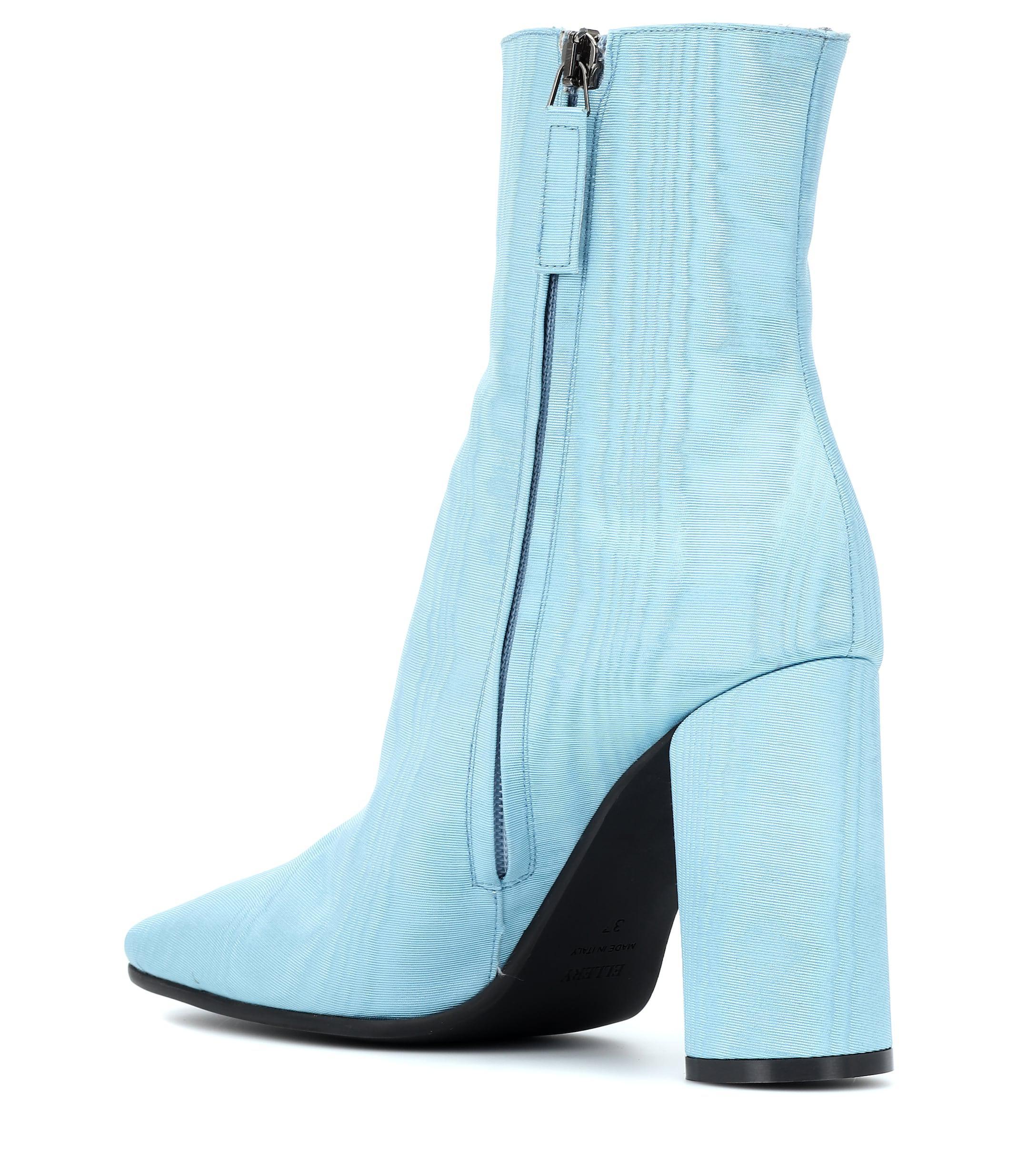 Botines de muaré Ellery de color Azul
