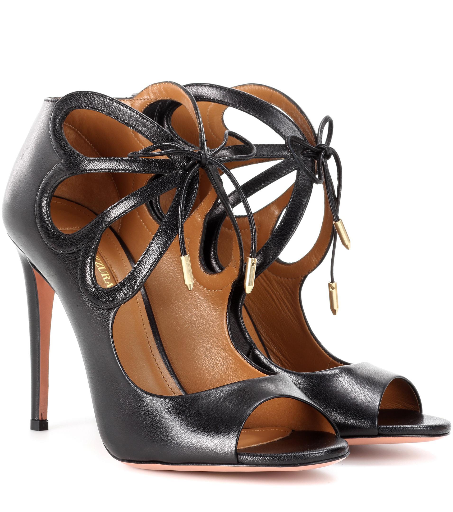 Aquazzura Syrah leather sandals 2soTTSZ