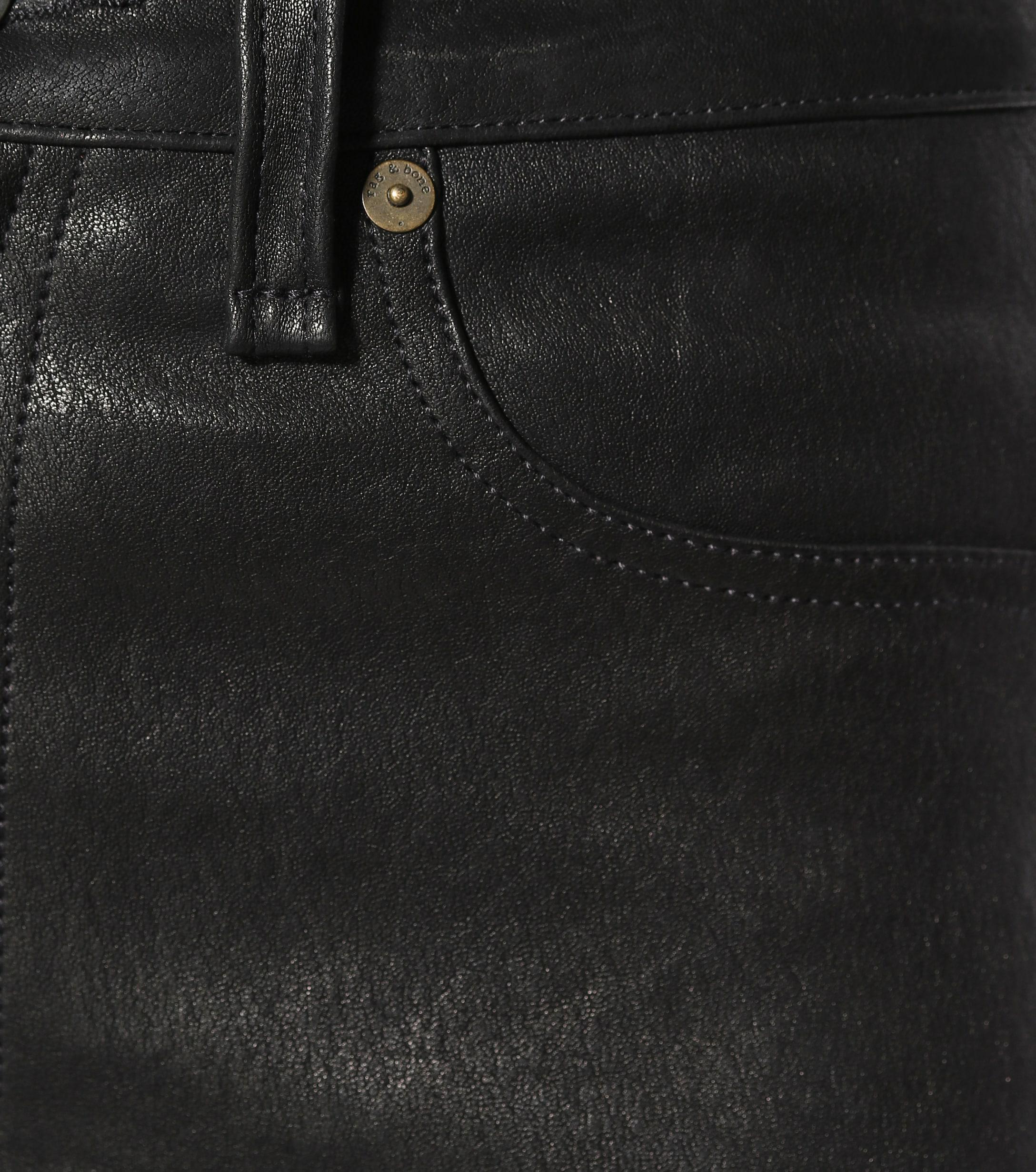 Pantalones de piel Rag & Bone de Cuero de color Negro