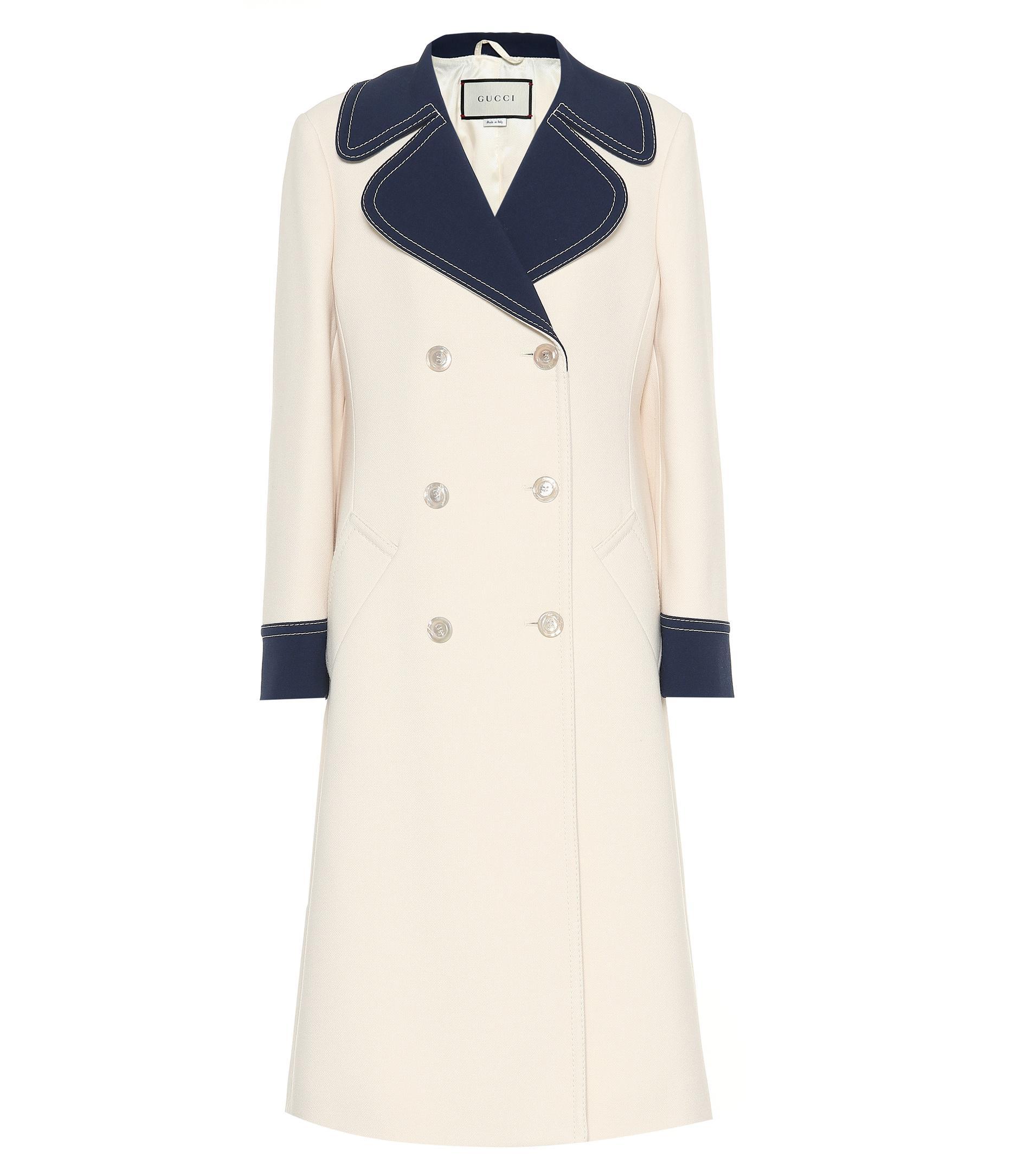 086b911d1b Women's White Double-breasted Wool Coat