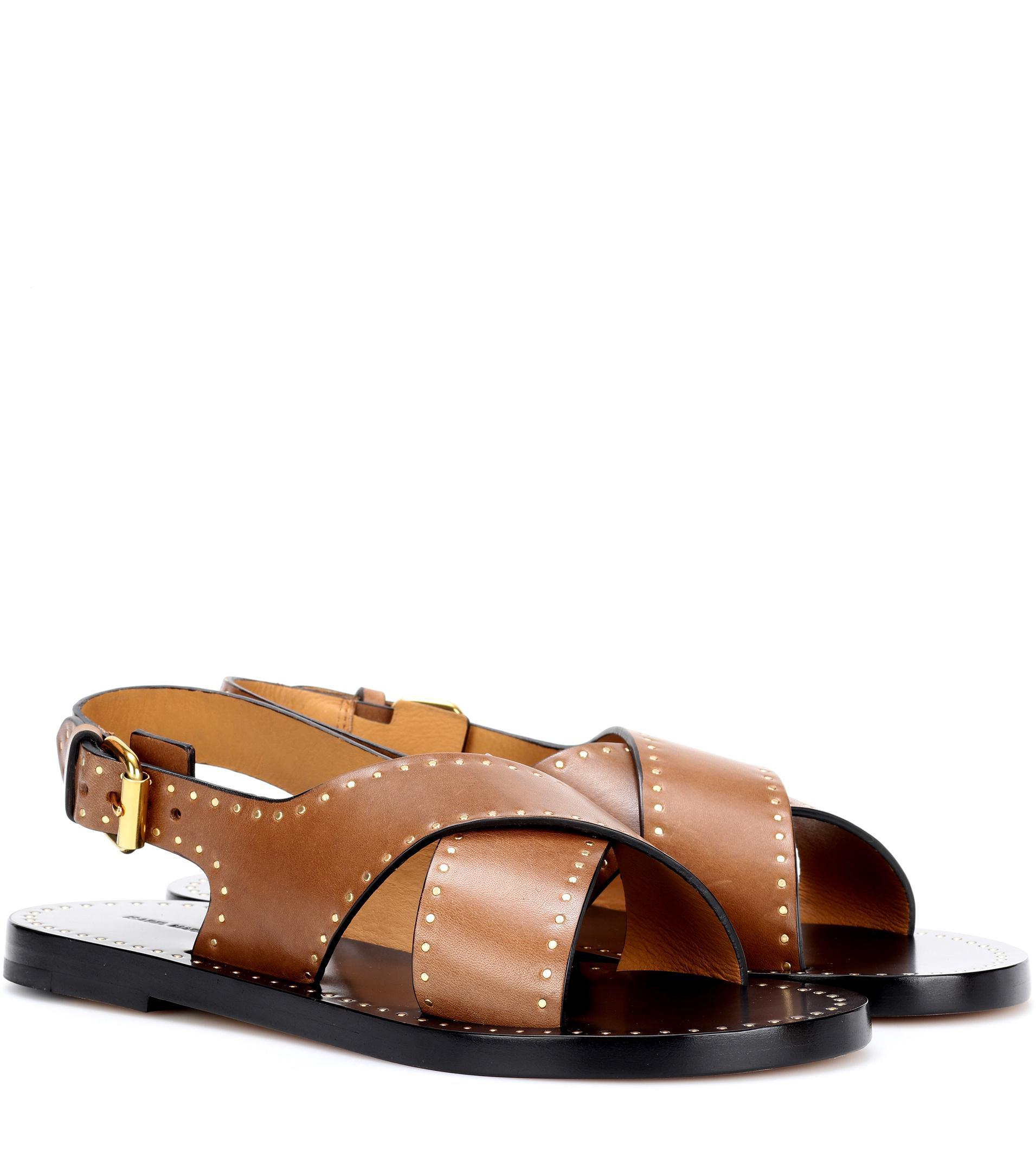 Jane stud-embellished leather sandals Isabel Marant msqgAH