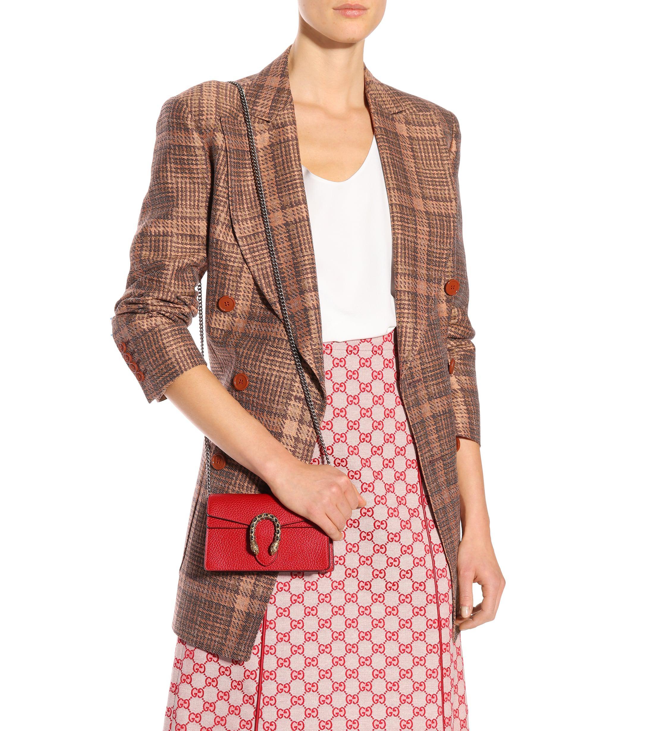 39eeb87b56c Gucci - Red Dionysus Super Mini Shoulder Bag - Lyst. View fullscreen