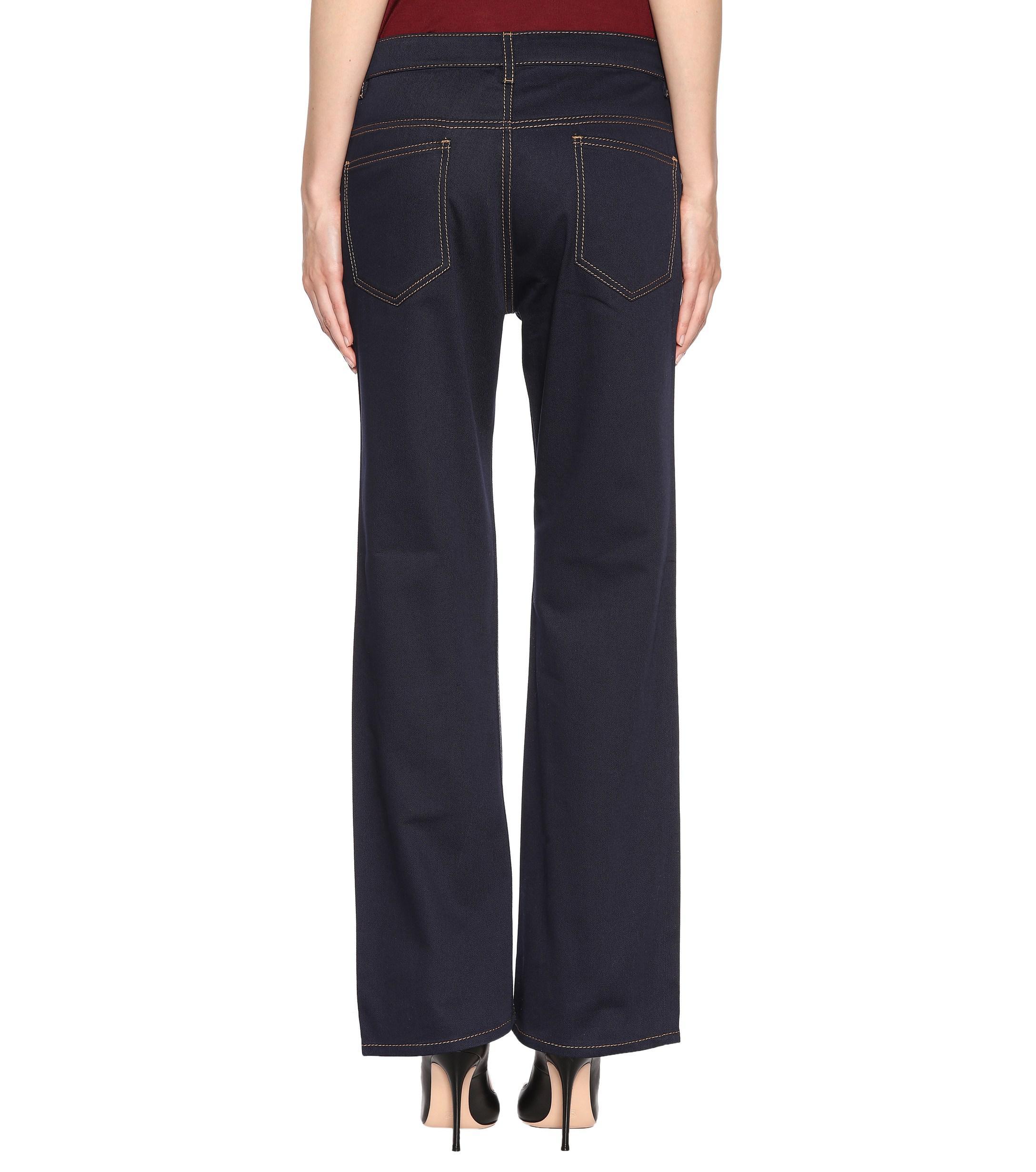 Prada Denim Flared Jeans in Blue