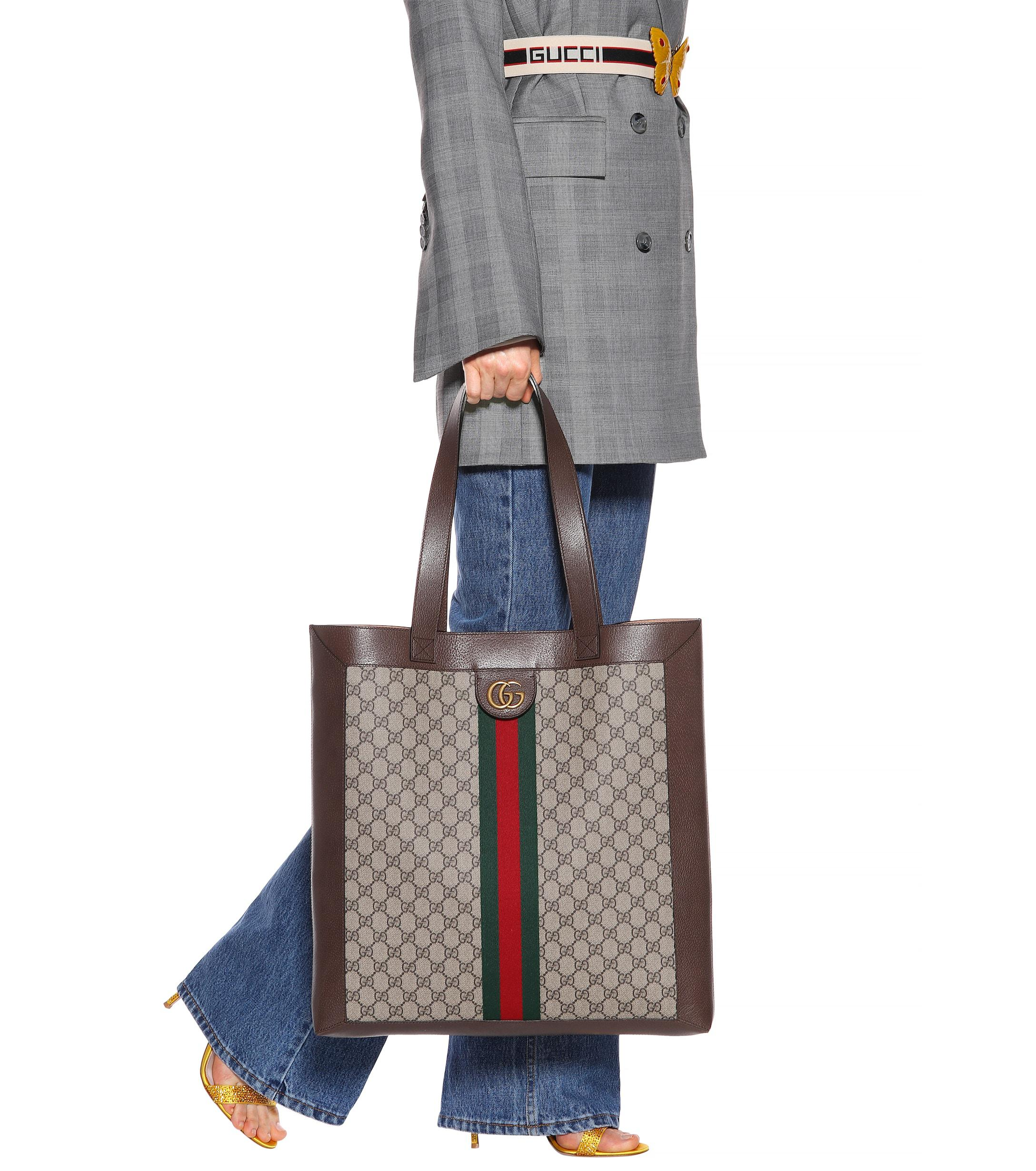 ee1c931411df Lyst - Gucci Ophidia GG Supreme Large Tote