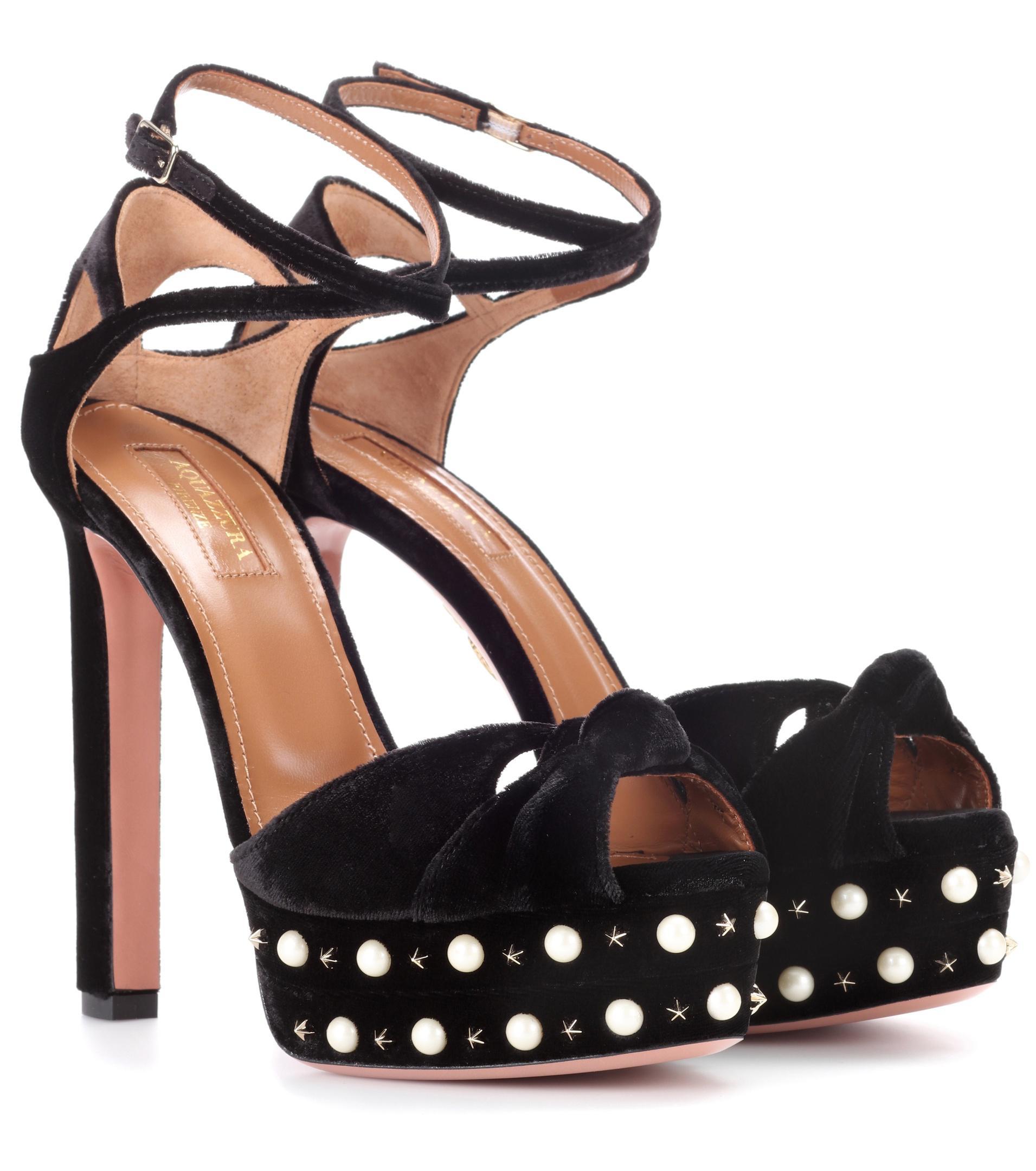Aquazzura Harlow Pearls 140 plateau sandals pVUaqvSI