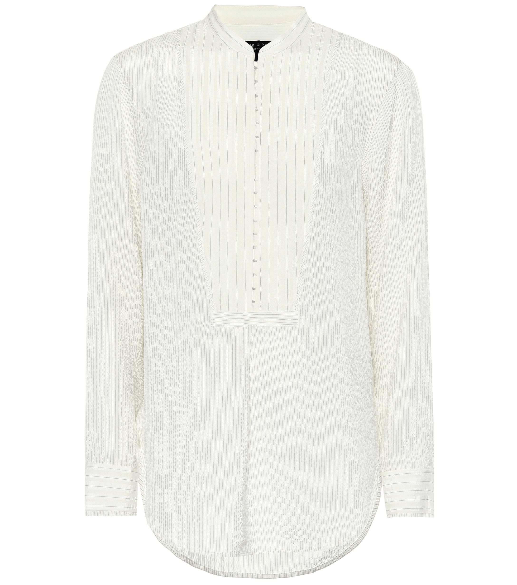 Lyst - Camisa Alfie de seda de rayas Rag   Bone 9e9692e9c8b