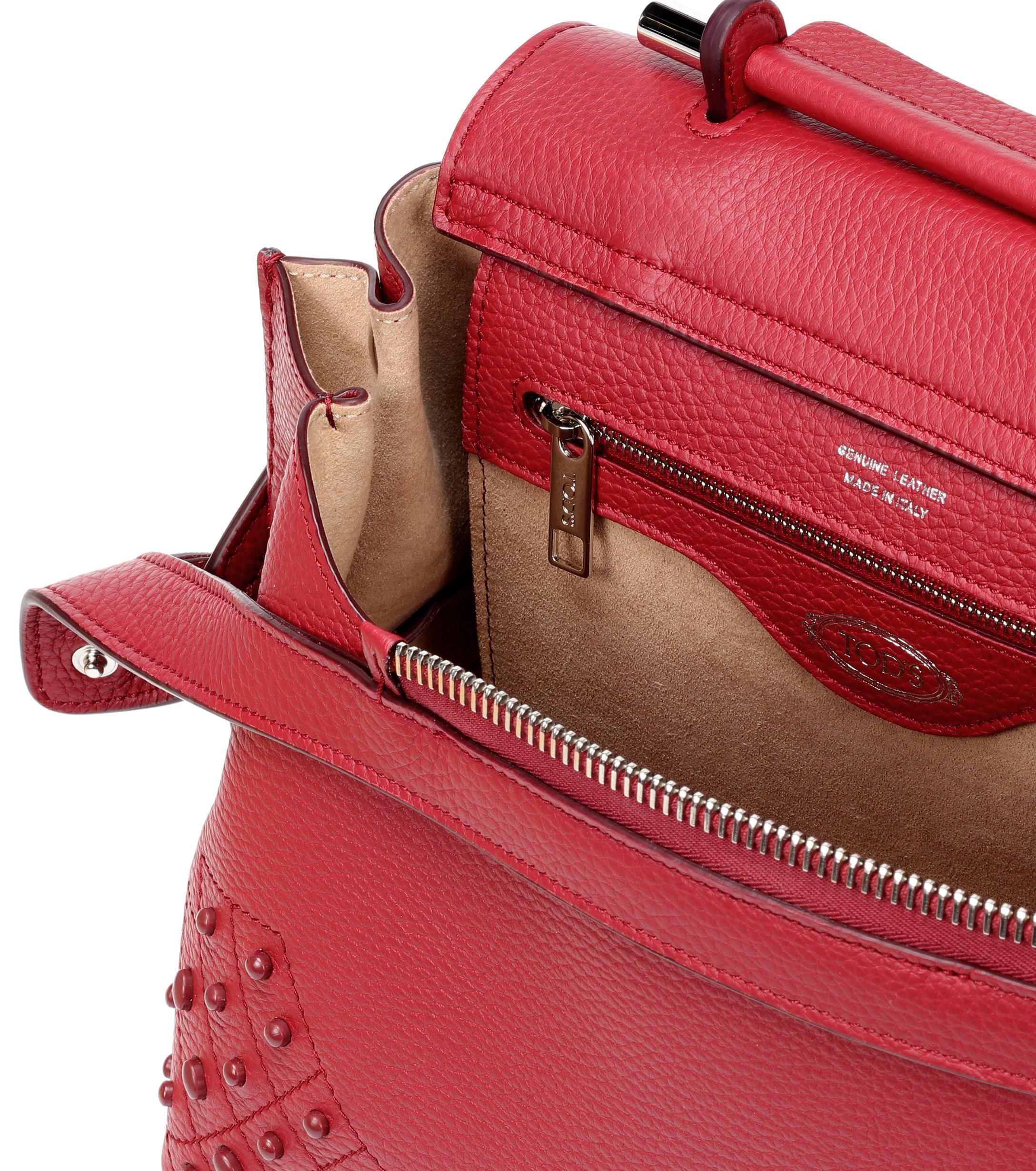 2bc7da5ae6f Tod's Wave Mini Leather Shoulder Bag in Red - Lyst