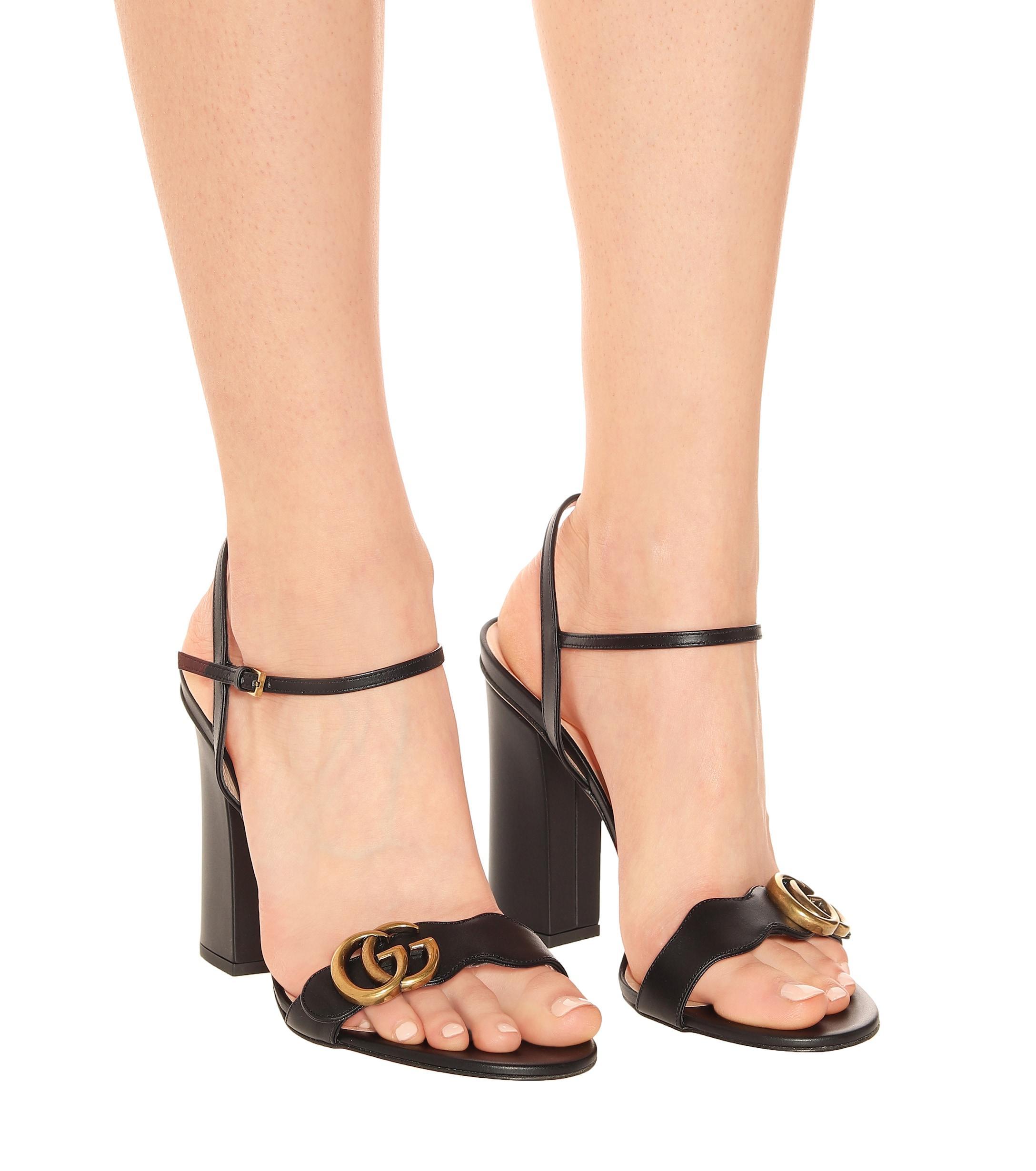 Gucci GG Marmont Block-heel Sandals in