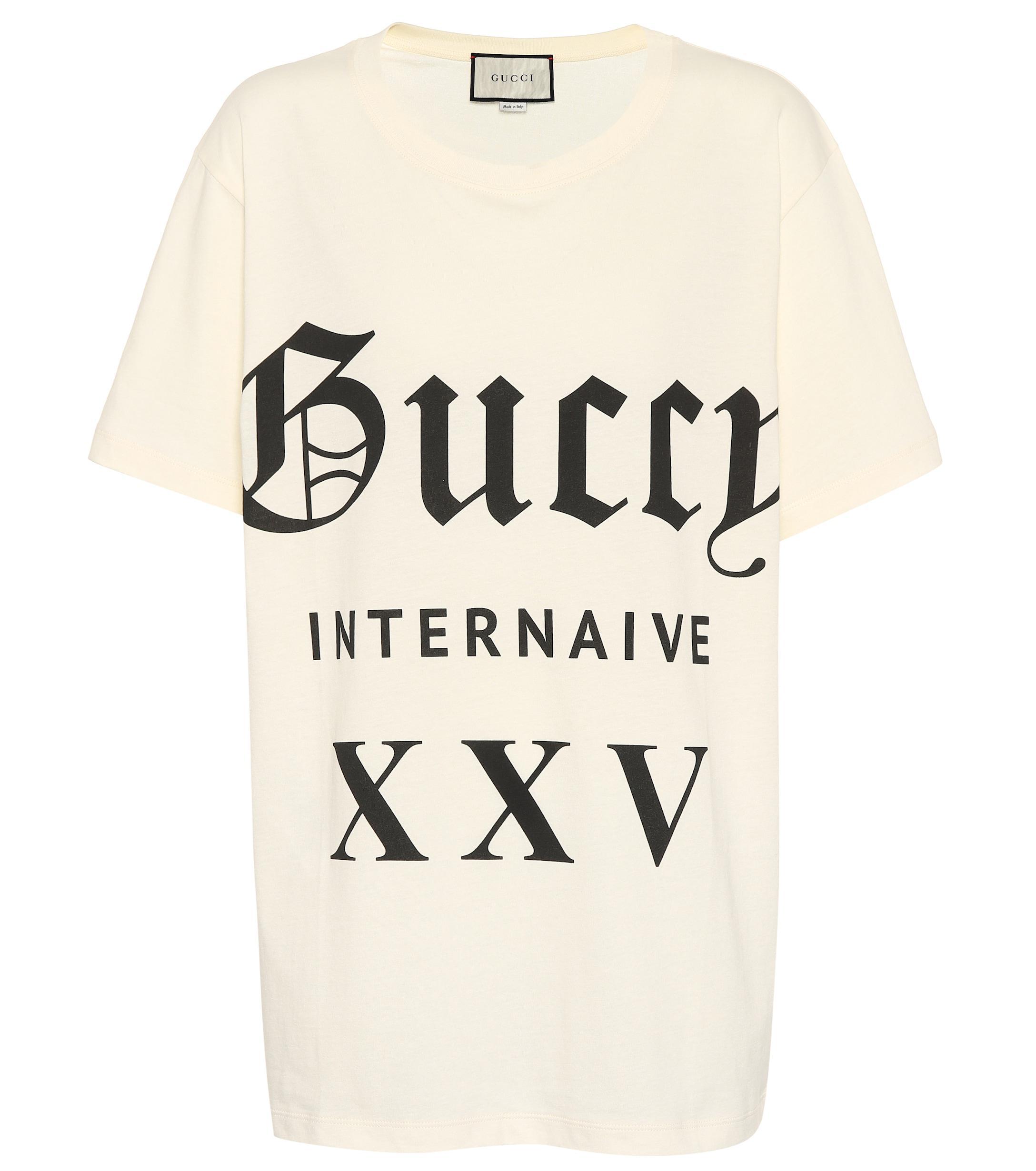 25abcfd59593 Gucci - Black Guccy Internaive Xxv Cotton T-shirt - Lyst. View fullscreen