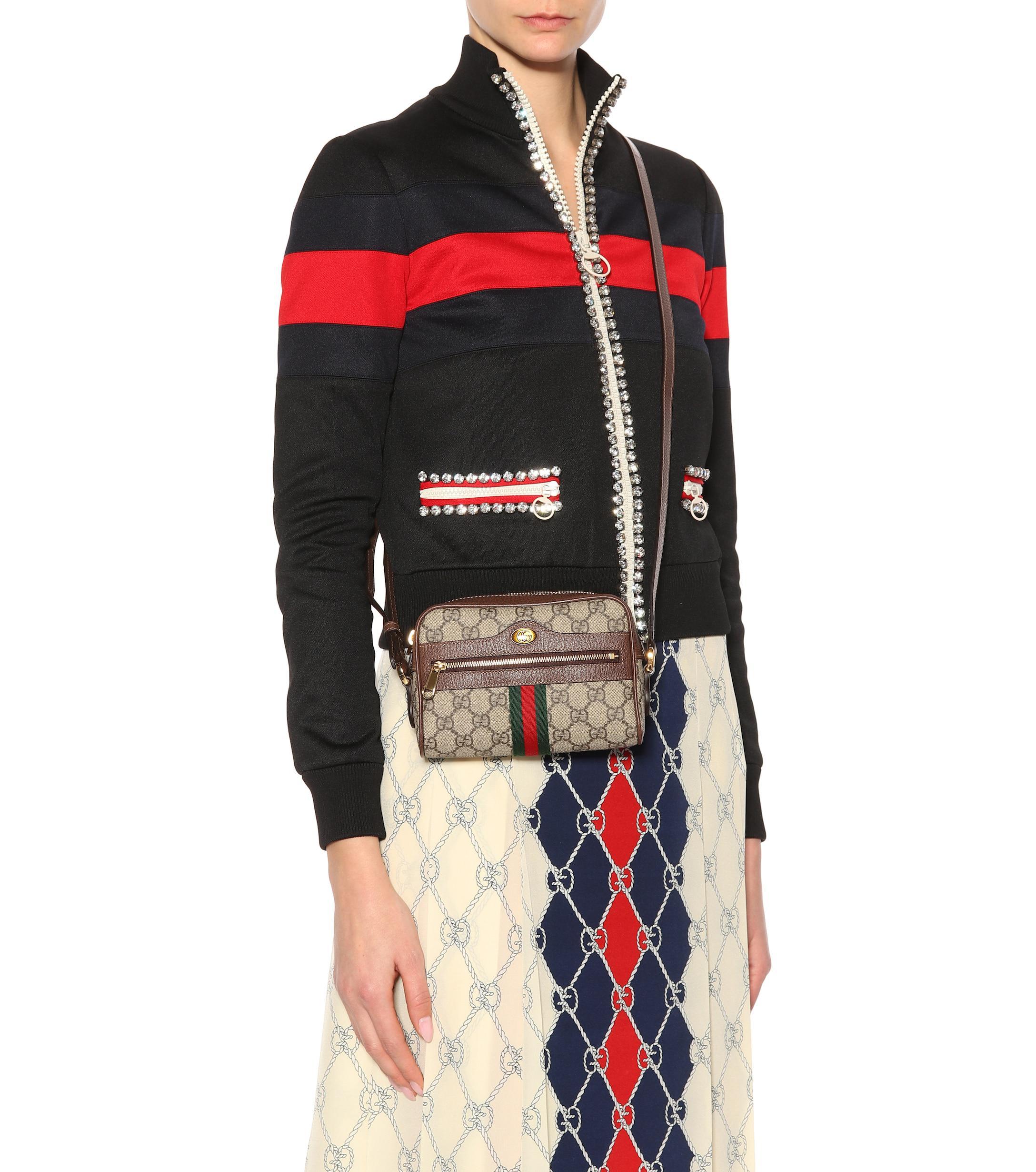 Gucci Multicolor Ophidia Gg Supreme Mini Shoulder Bag Lyst View Fullscreen