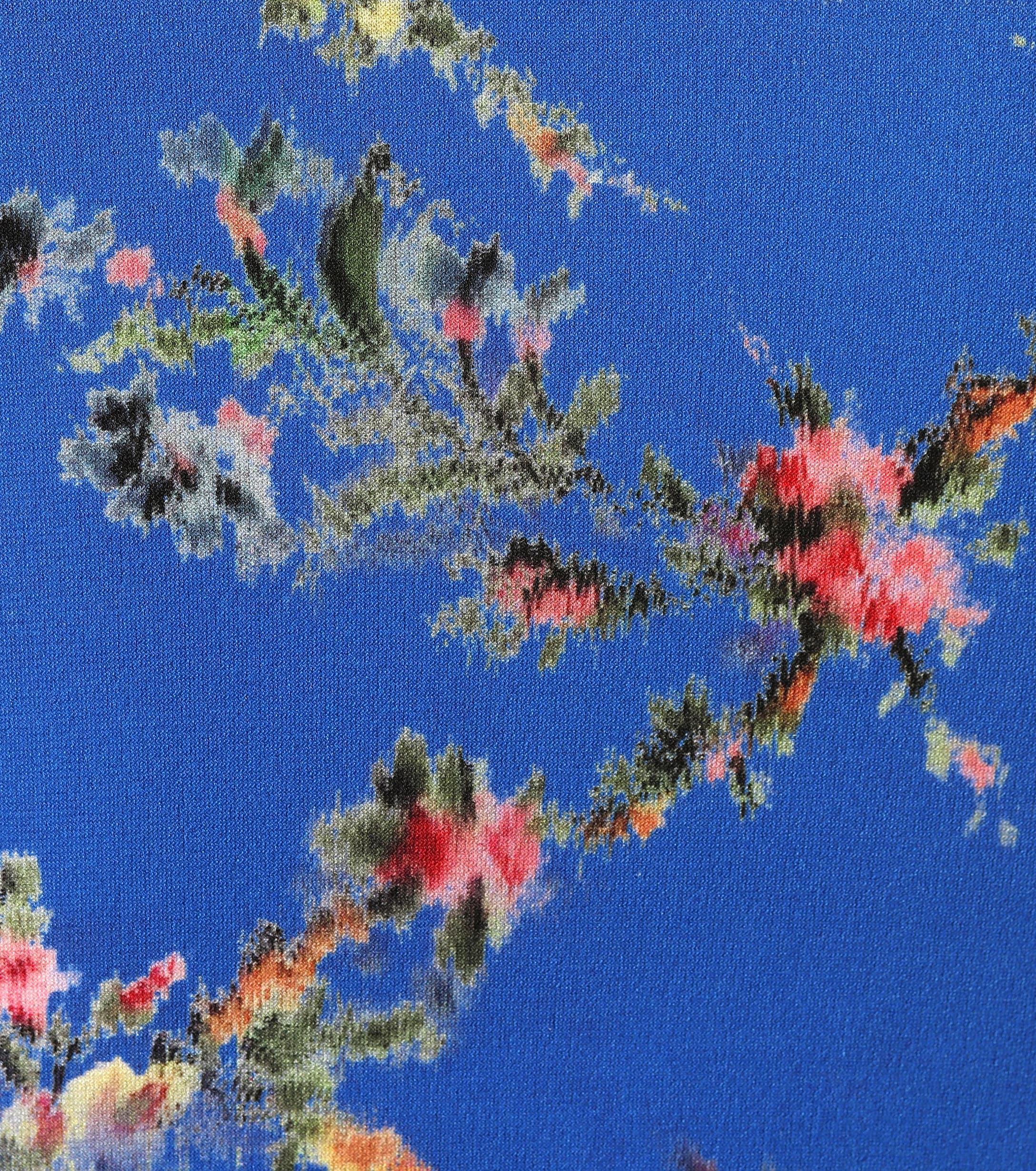 Top de crepé con estampado floral Preen By Thornton Bregazzi de Tejido sintético de color Azul