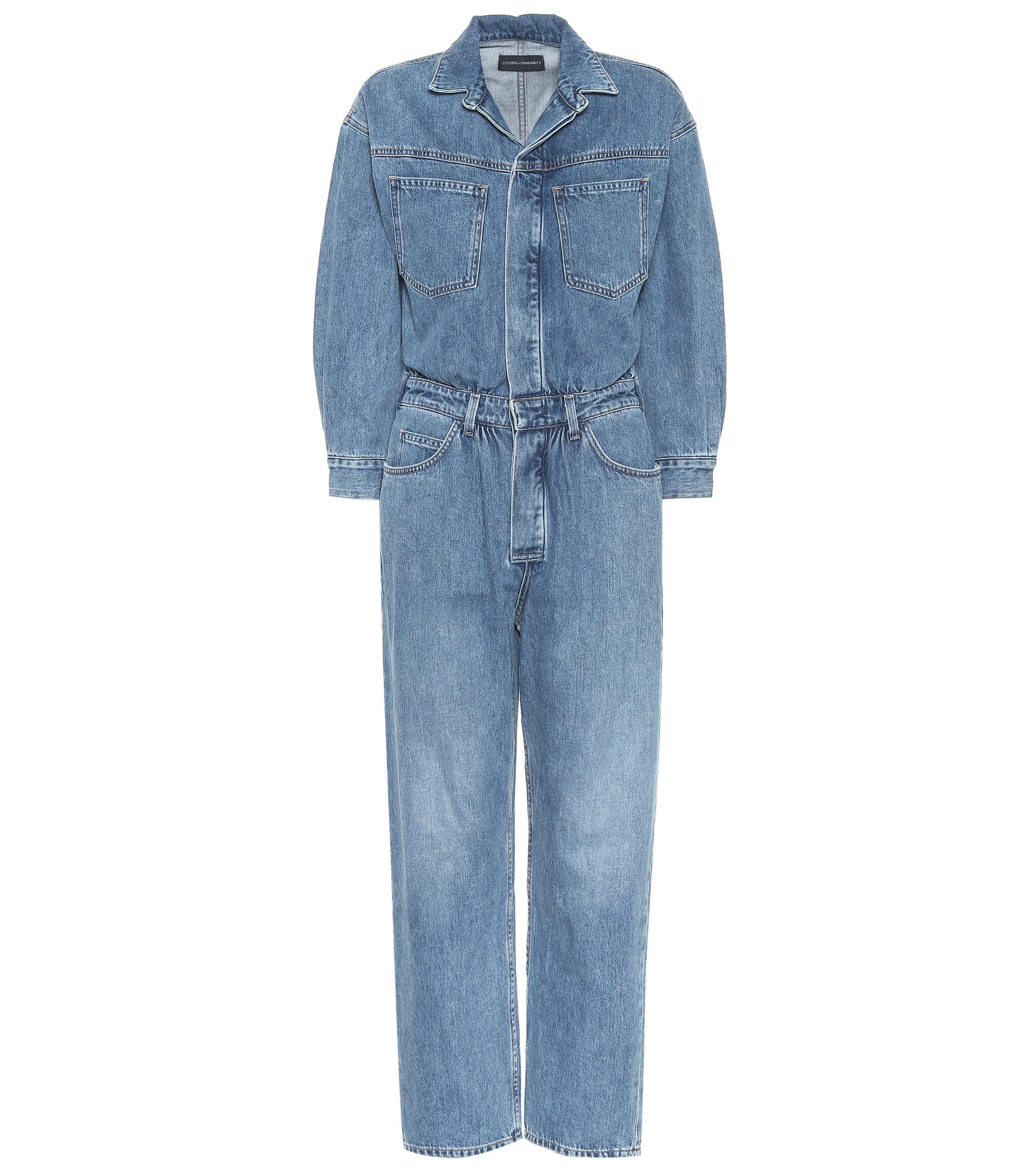 62d1c58e9b37 Lyst - Citizens of Humanity Amber Denim Jumpsuit in Blue