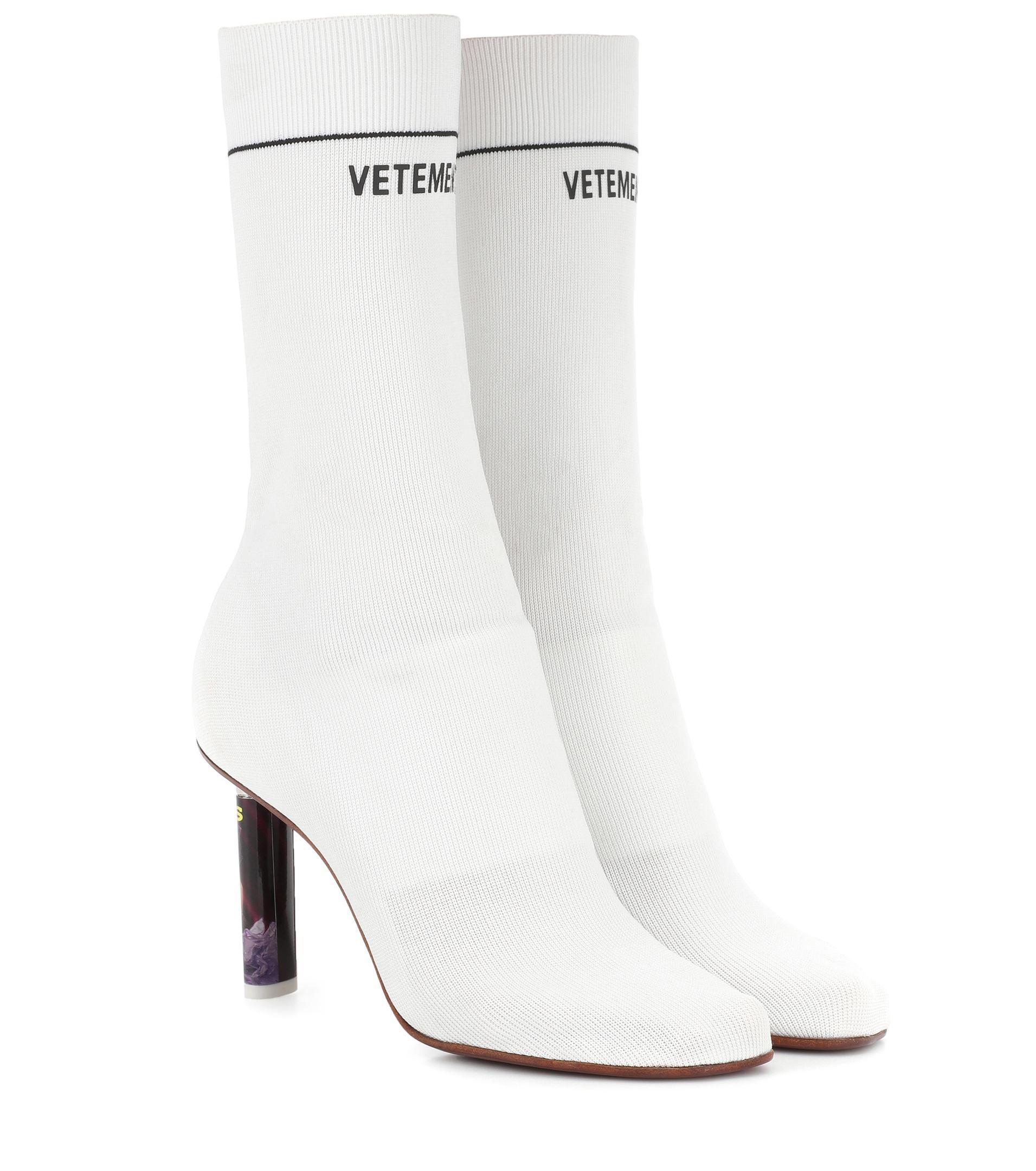 Vetements Leather Lighter-heel Sock