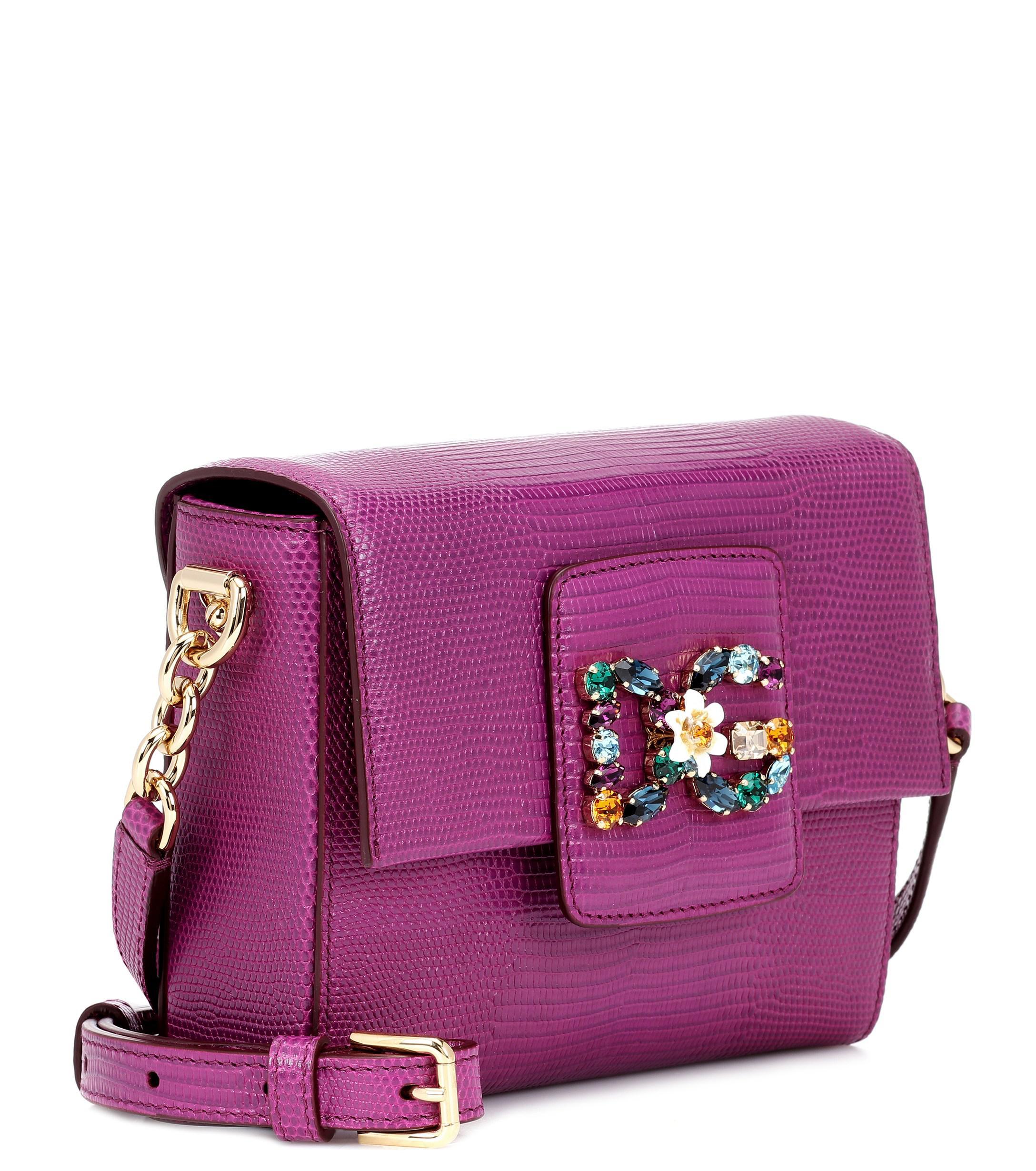 06355ee5f89 Dolce & Gabbana Dg Millennials Mini Leather Shoulder Bag in Purple ...