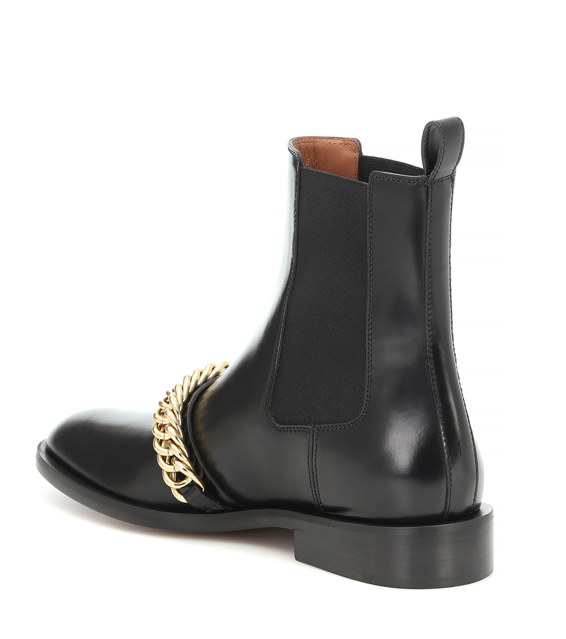 Botines de piel adornados Givenchy de Cuero de color Negro