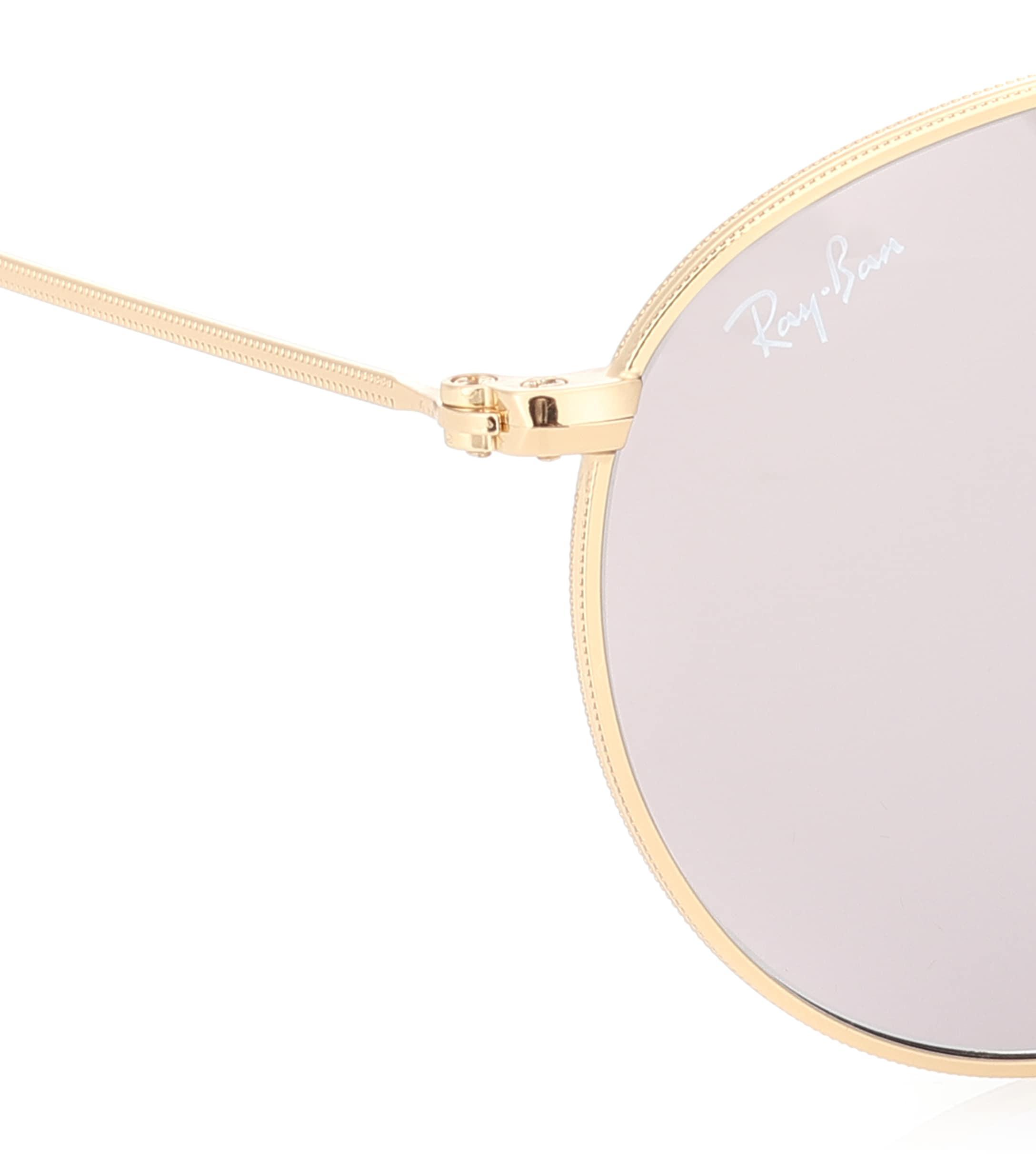 Ray-Ban Synthetic Rb3447 Round Sunglasses in Gold (Metallic)