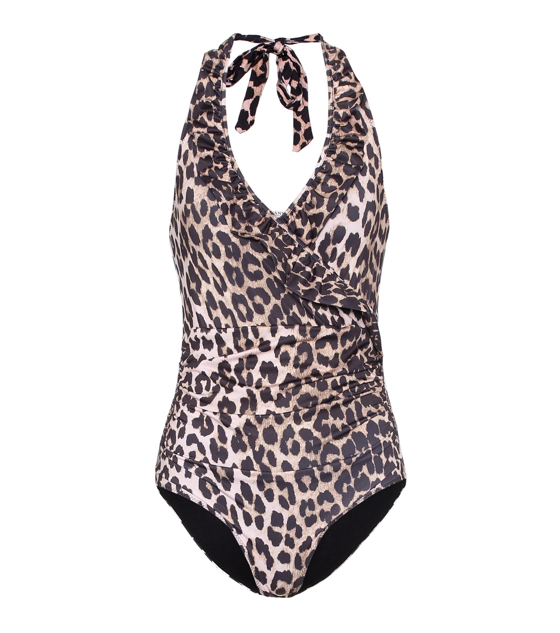 d033b53a76 Ganni Belrose One-piece Swimsuit in Black - Lyst