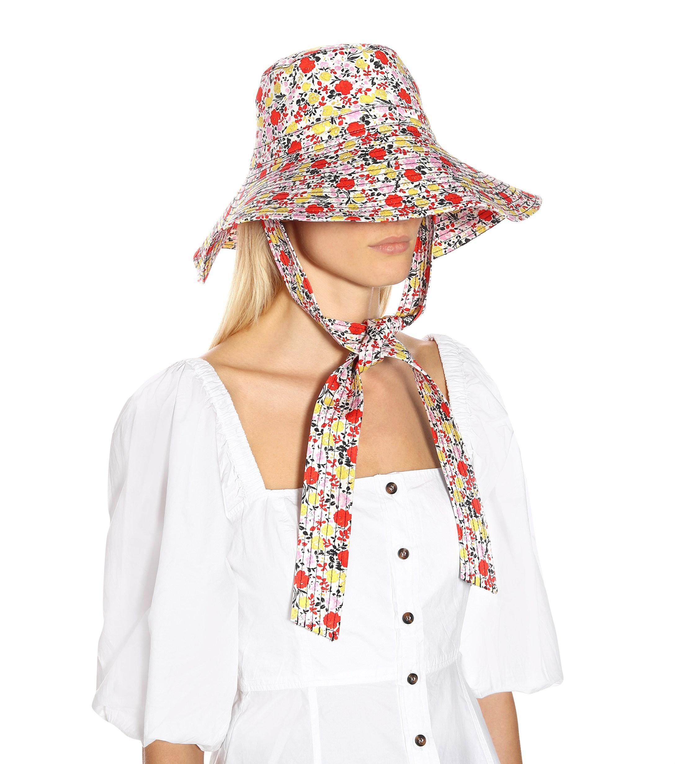 ab2b3186c15e0 Ganni Exclusive To Mytheresa – Floral Wide-brim Hat - Lyst