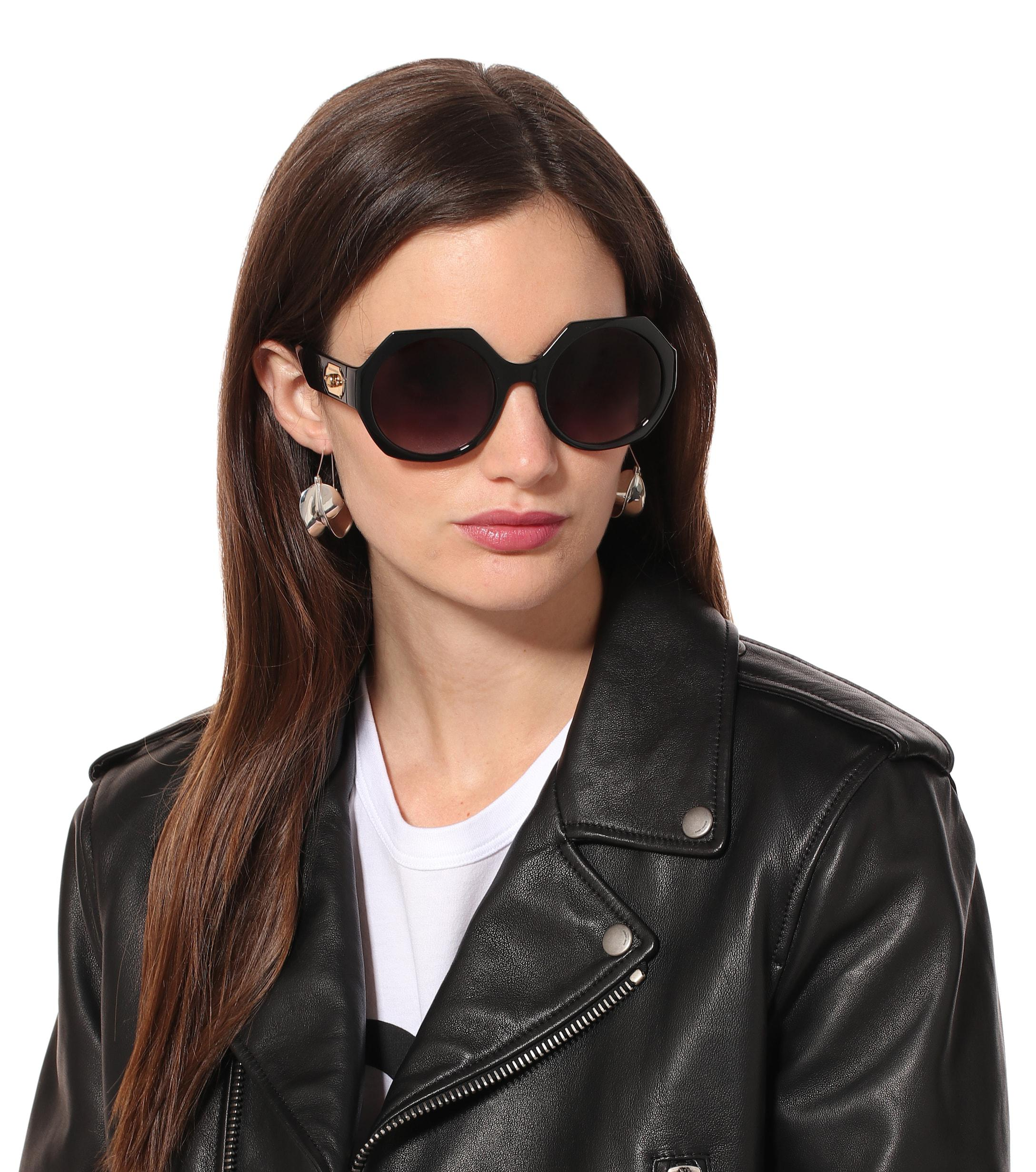 Dolce & Gabbana Synthetic Round Sunglasses in Black