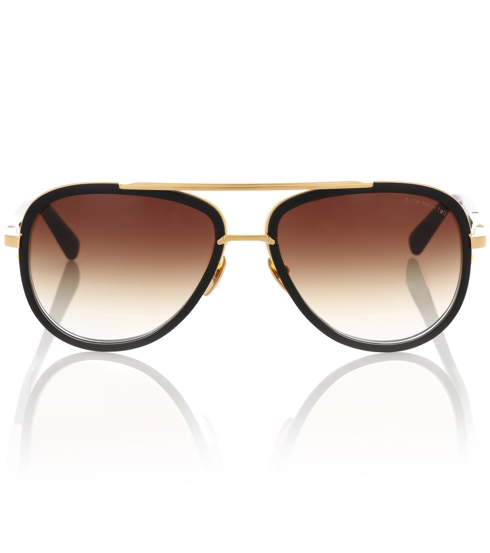 fb8515b4e98 Lyst - Dita Eyewear Mach Two 18kt Gold-plated Acetate Sunglasses in ...