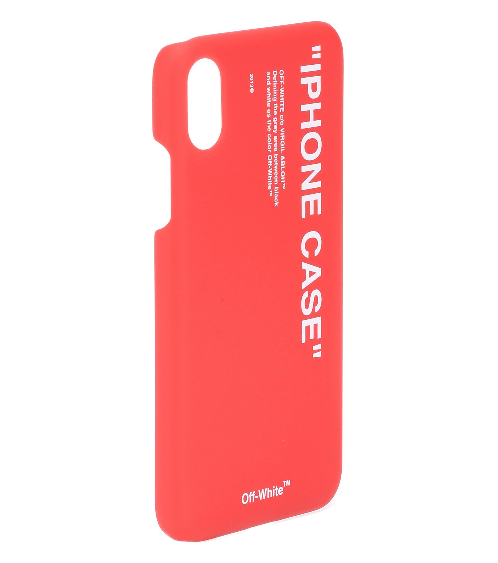 big sale ee6b5 94593 Off-White c/o Virgil Abloh Red Iphone X Case