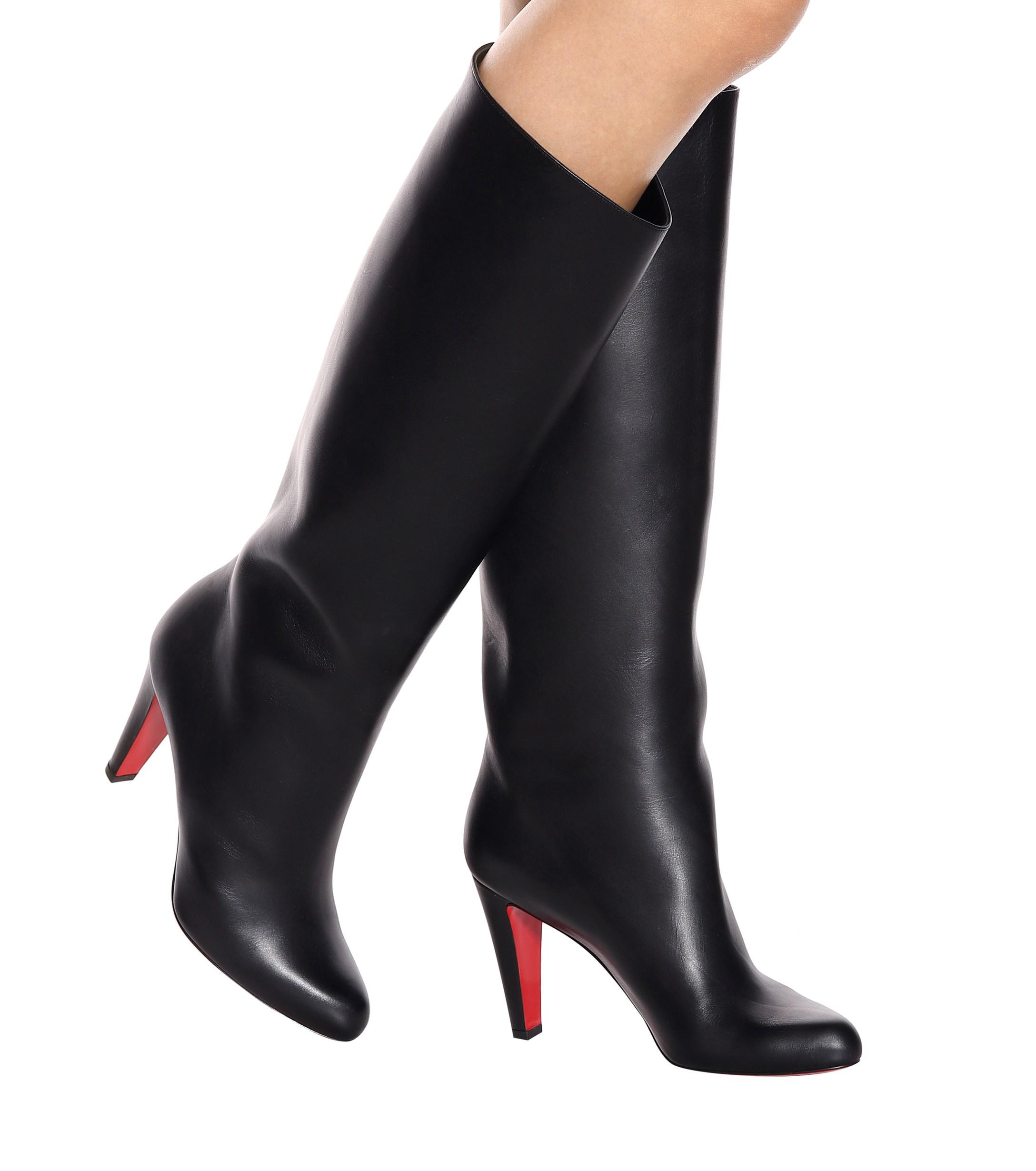 designer fashion 8d8a2 8974a Christian Louboutin Black Marmara Botta 85 Leather Boots