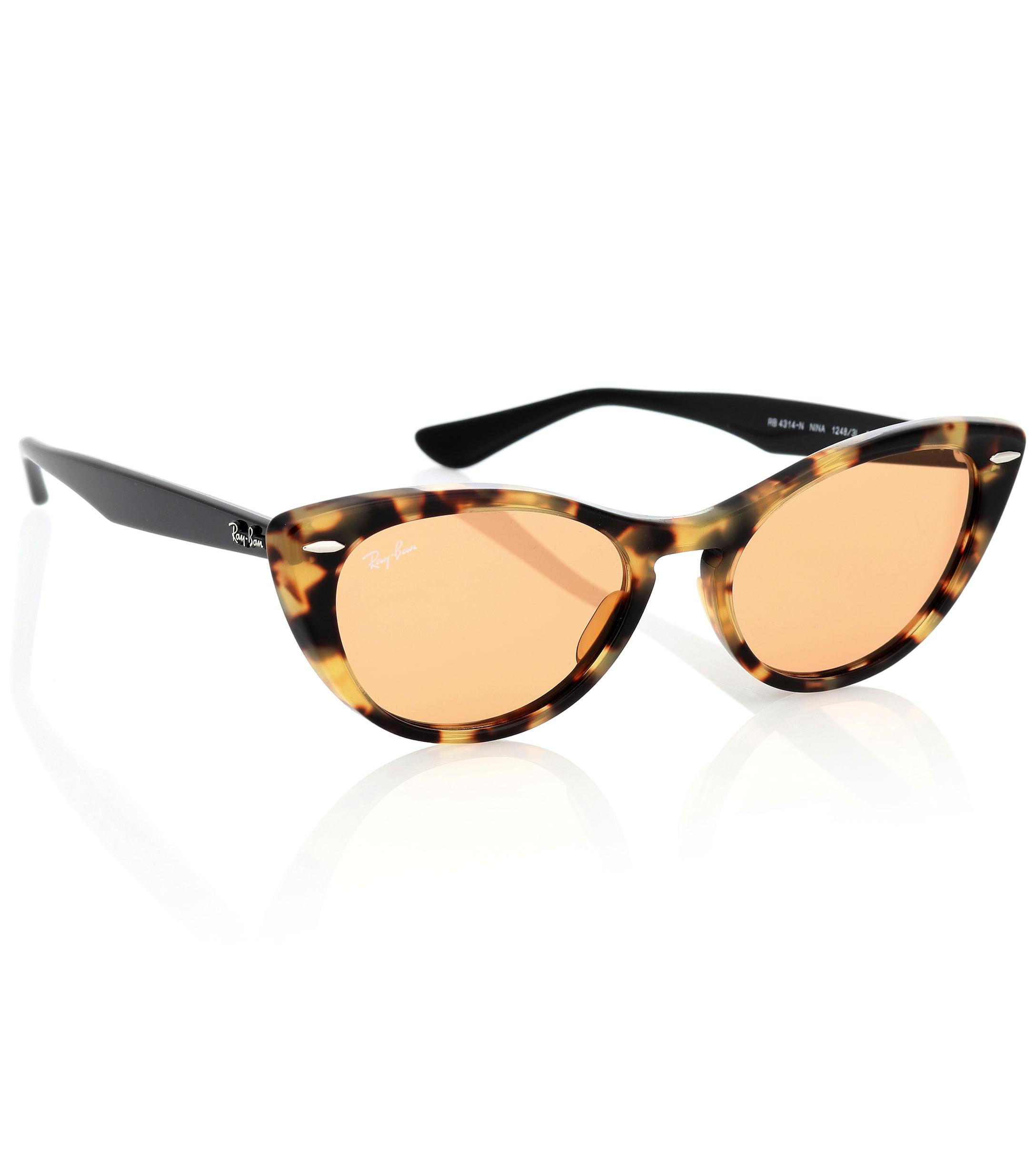 e02afe1f8a45 Ray-Ban Nina X Cat-eye Acetate Sunglasses in Brown - Lyst