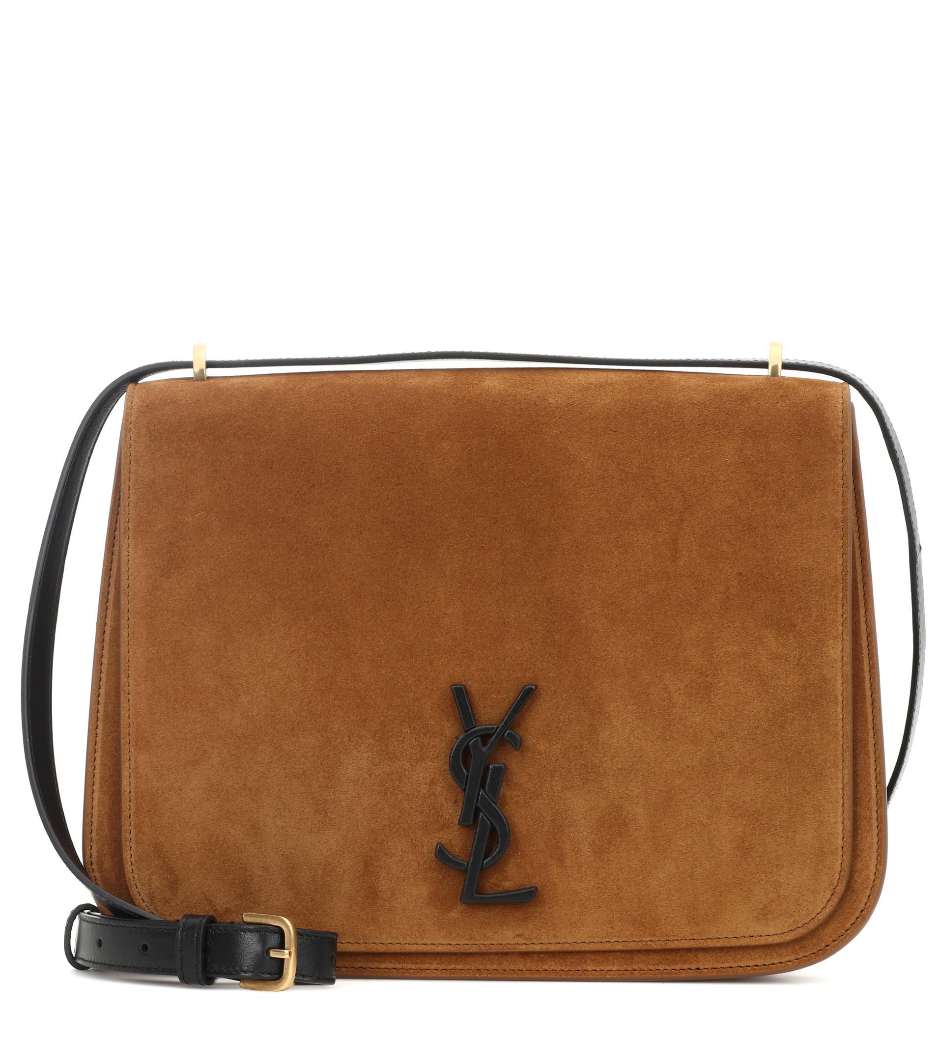 c14de0aaa3 Lyst - Saint Laurent Medium Spontini Shoulder Bag in Brown