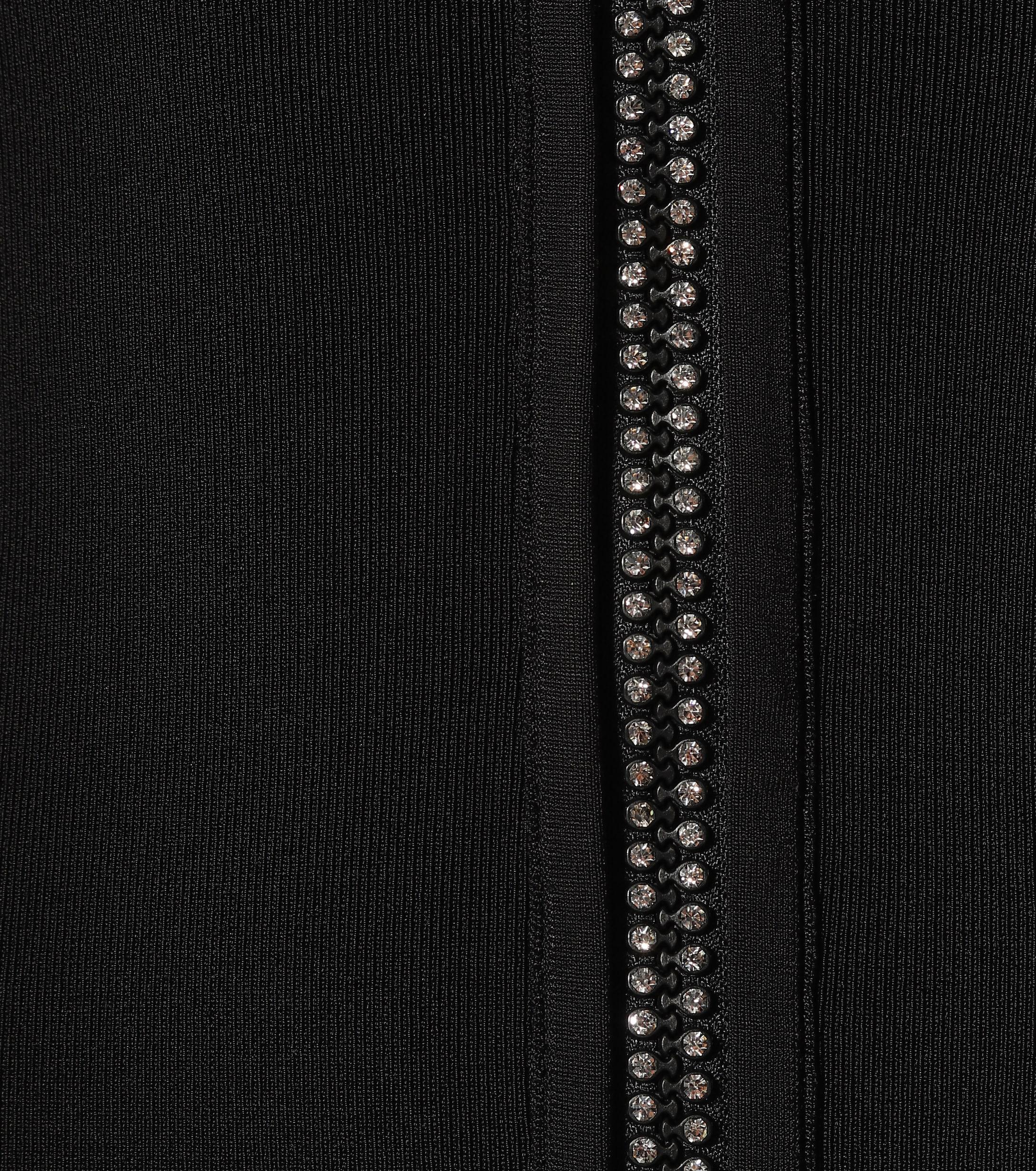 Vestido con detalles de cristales y cremallera David Koma de Tejido sintético de color Negro