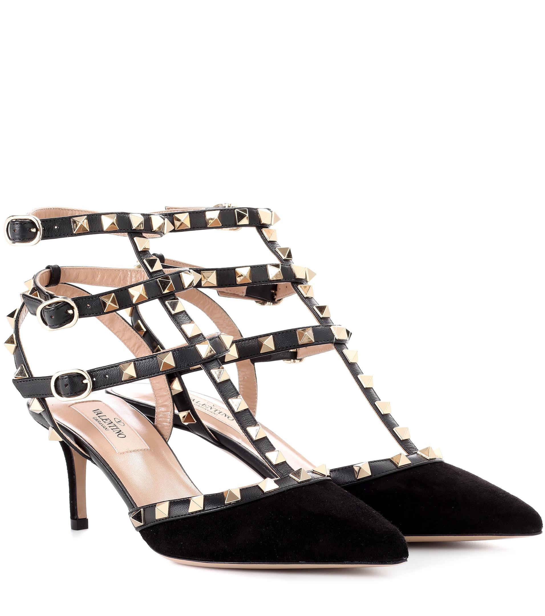 Valentino Garavani The Rockstud Suede And Leather Sandals - Black Valentino ilUvvc