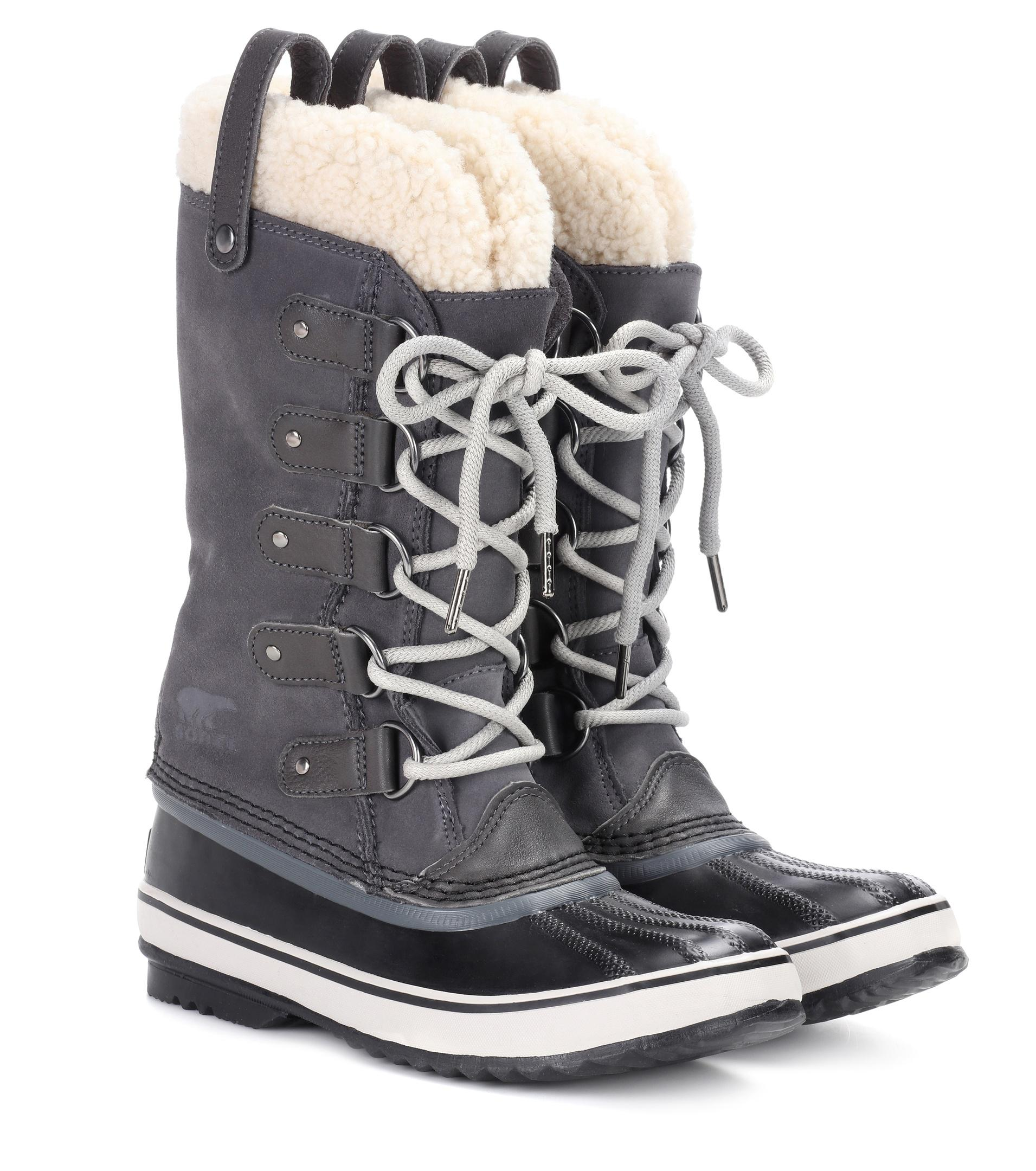sorel Joan of Arctic shearling-trimmed suede and rubber boots Clearance Online Free Shipping Latest Collections Buy Cheap Free Shipping Brand New Unisex For Sale E1nbNyMCZn