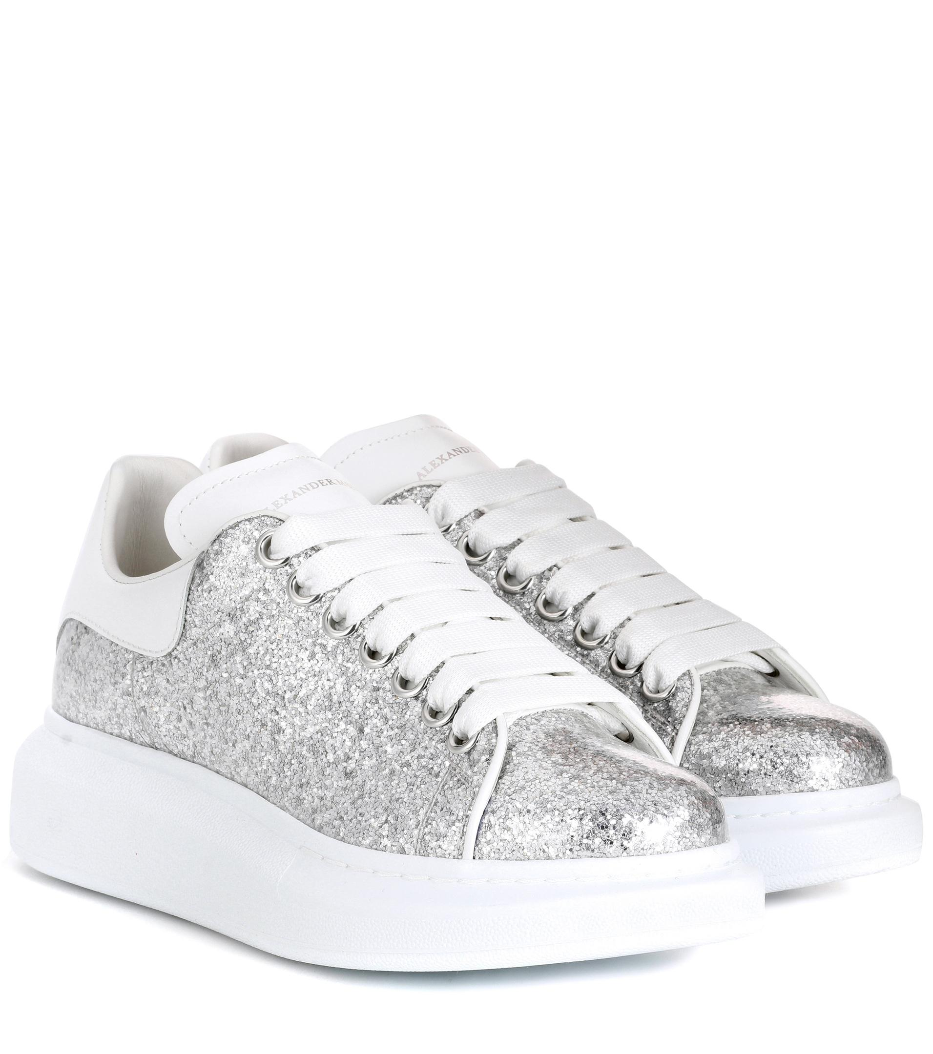 Women's Metallic Glitter Platform Sneakers