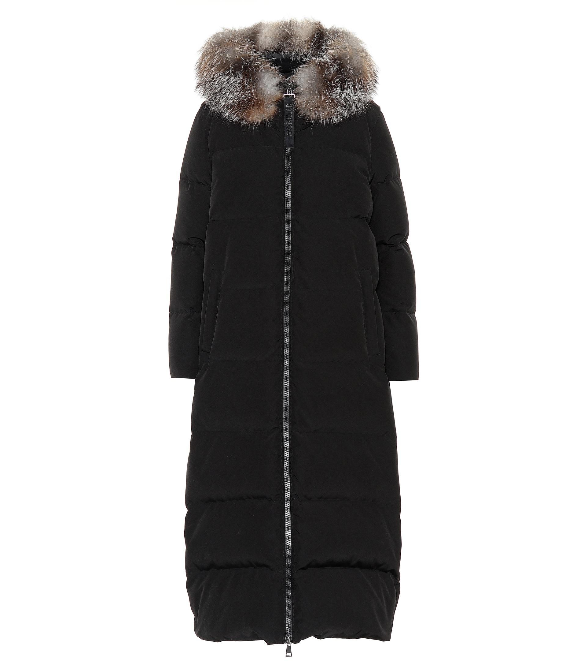 008bc60d1 low price moncler fur trimmed puffer coat racks a15f4 73a59