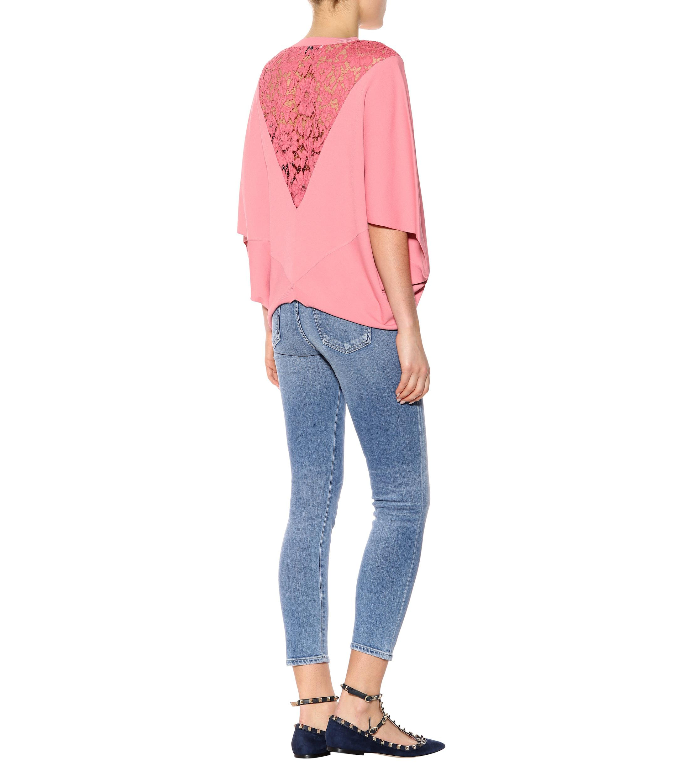 6a7367779c4 valentino-candy-pink-Lace-trimmed-Cape-Sweater.jpeg