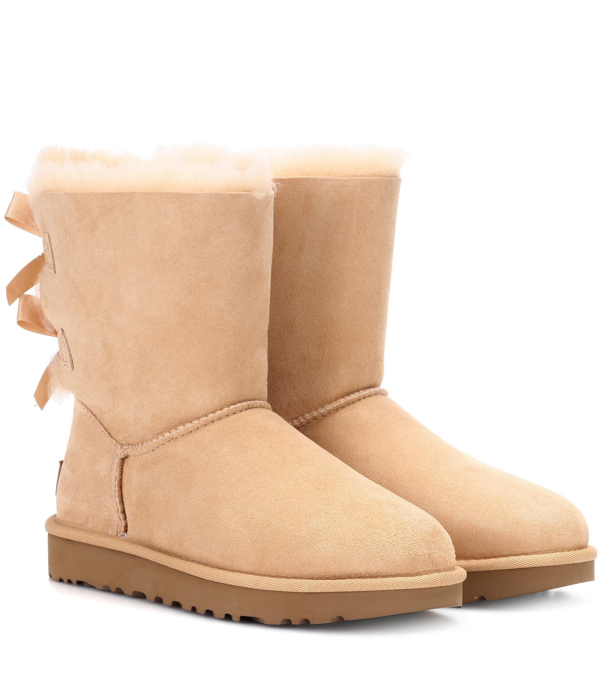 2c672a26038 Ugg Natural Bailey Bow Short Ruffle (amberlight) Women's Pull-on Boots