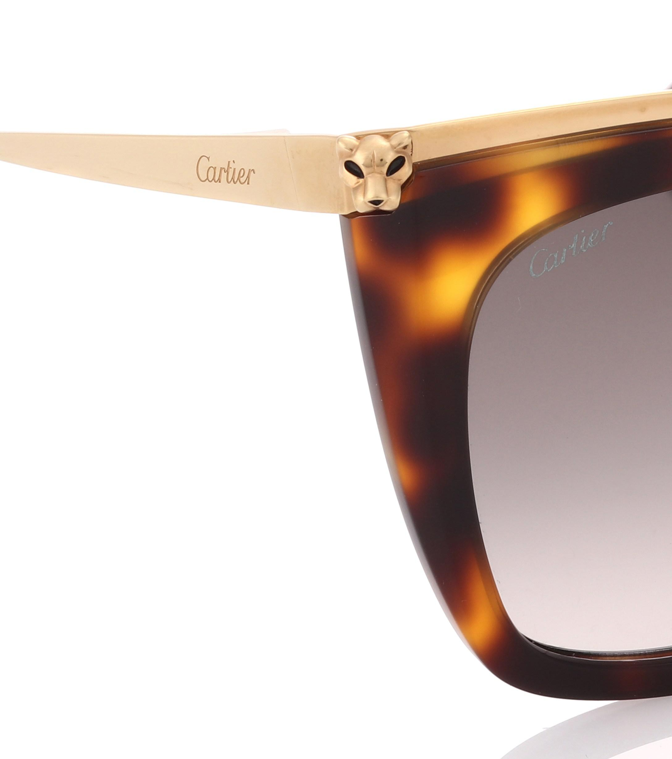 bb9cd549df ... Panthère De Cartier Square Sunglasses - Lyst. View fullscreen