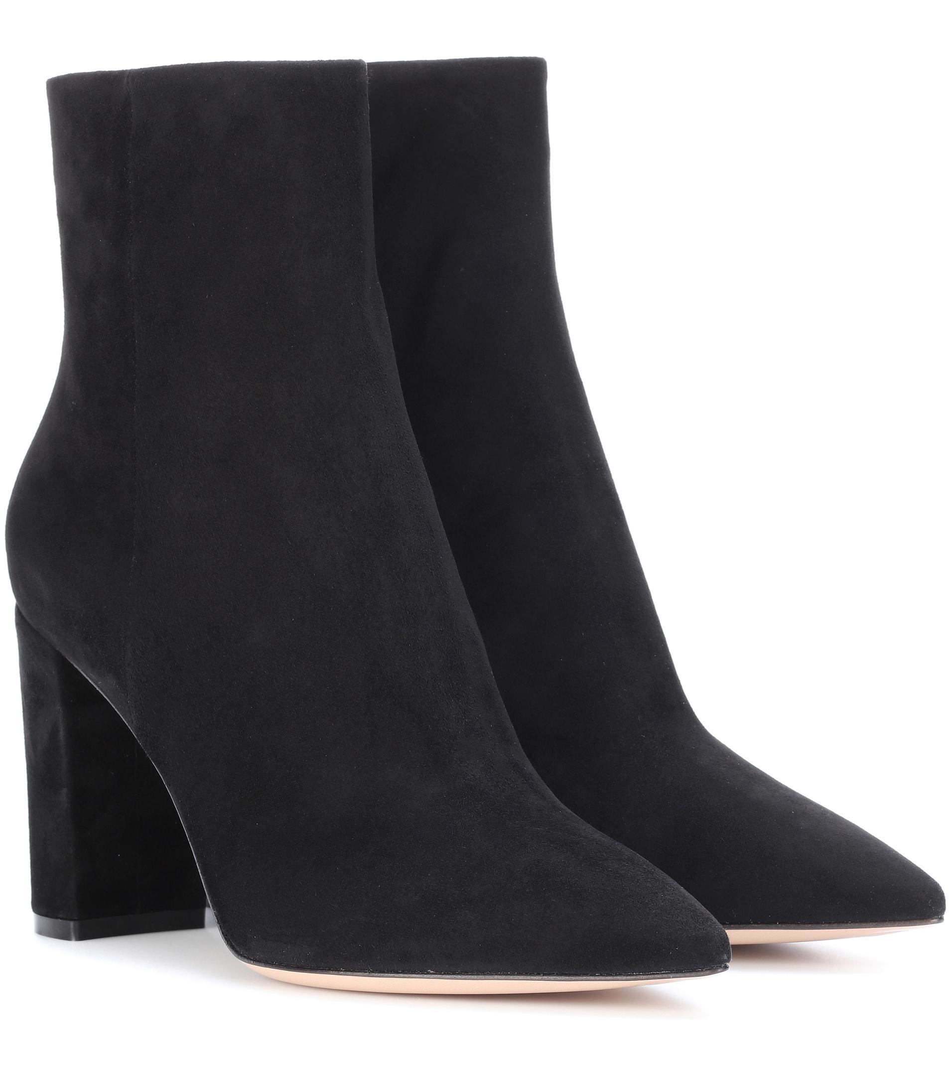 ea1f0056c4e13 Gianvito Rossi Black Piper 85 Suede Ankle Boots. View fullscreen