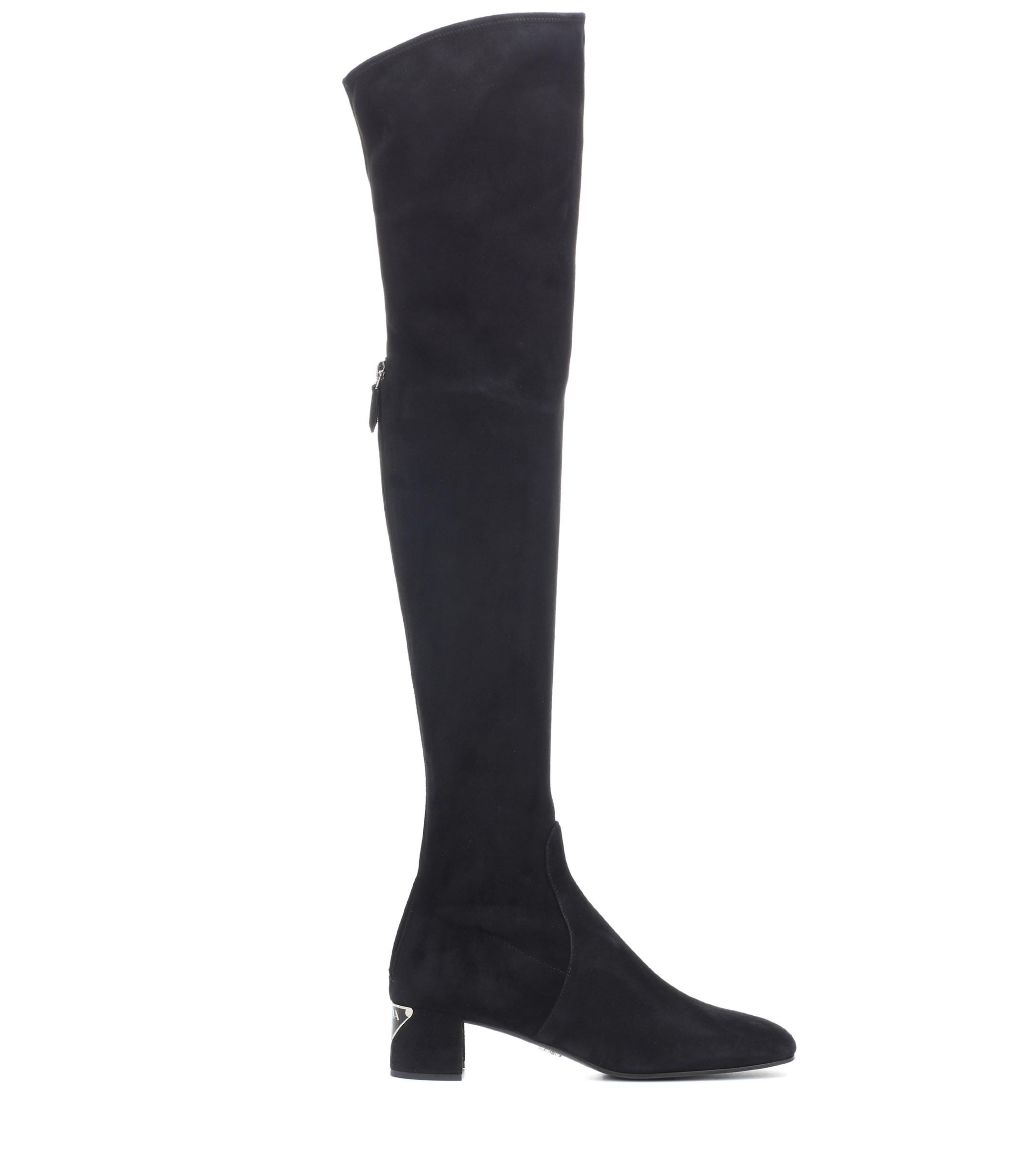 no sale tax new arrivals aliexpress Women's Black Suede Over-the-knee Boots