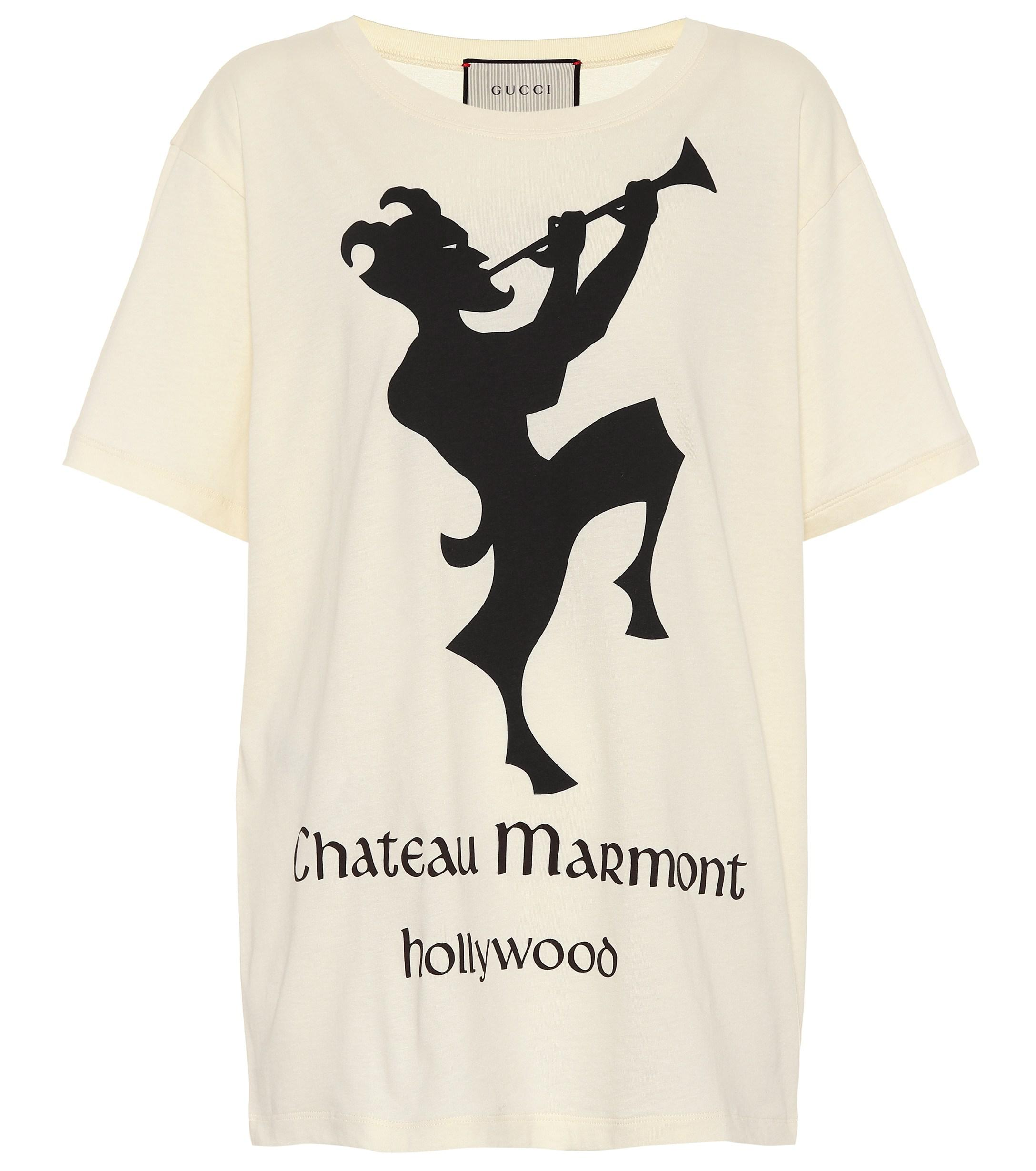 74b948fef4 Gucci Chateau Marmont Cotton T-shirt in White - Save 7% - Lyst