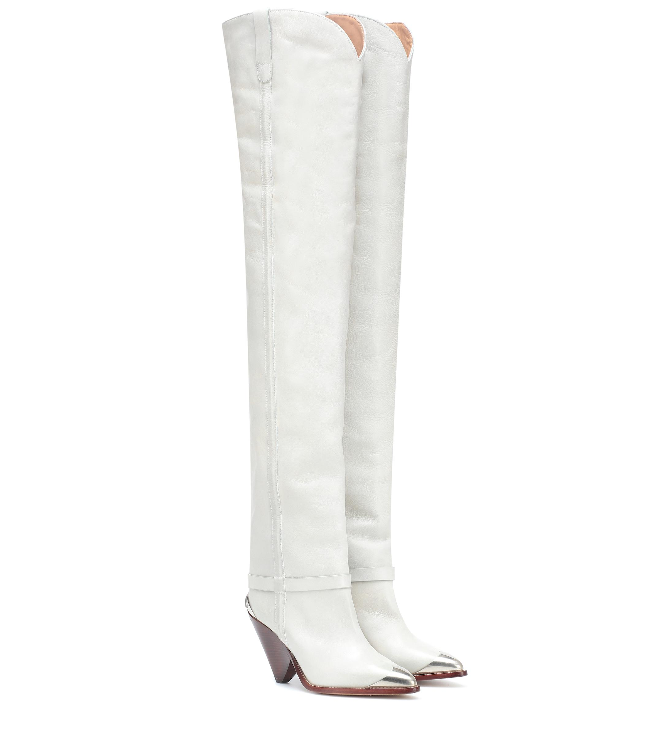 6597773a1e2 Lyst - Isabel Marant Lafsten Over-the-knee Boots in White