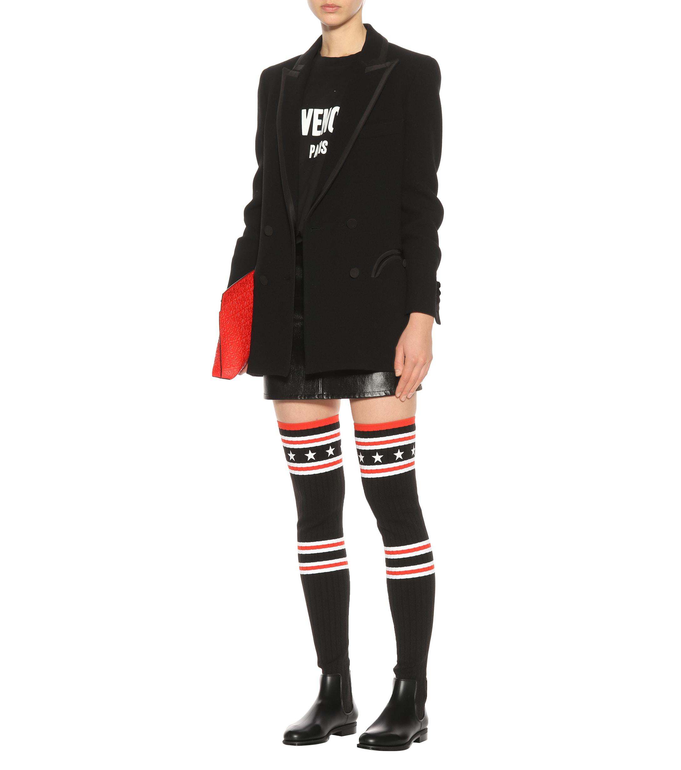 4badc3fda Givenchy Storm Over-the-knee Sock Boots in Black - Save 58% - Lyst