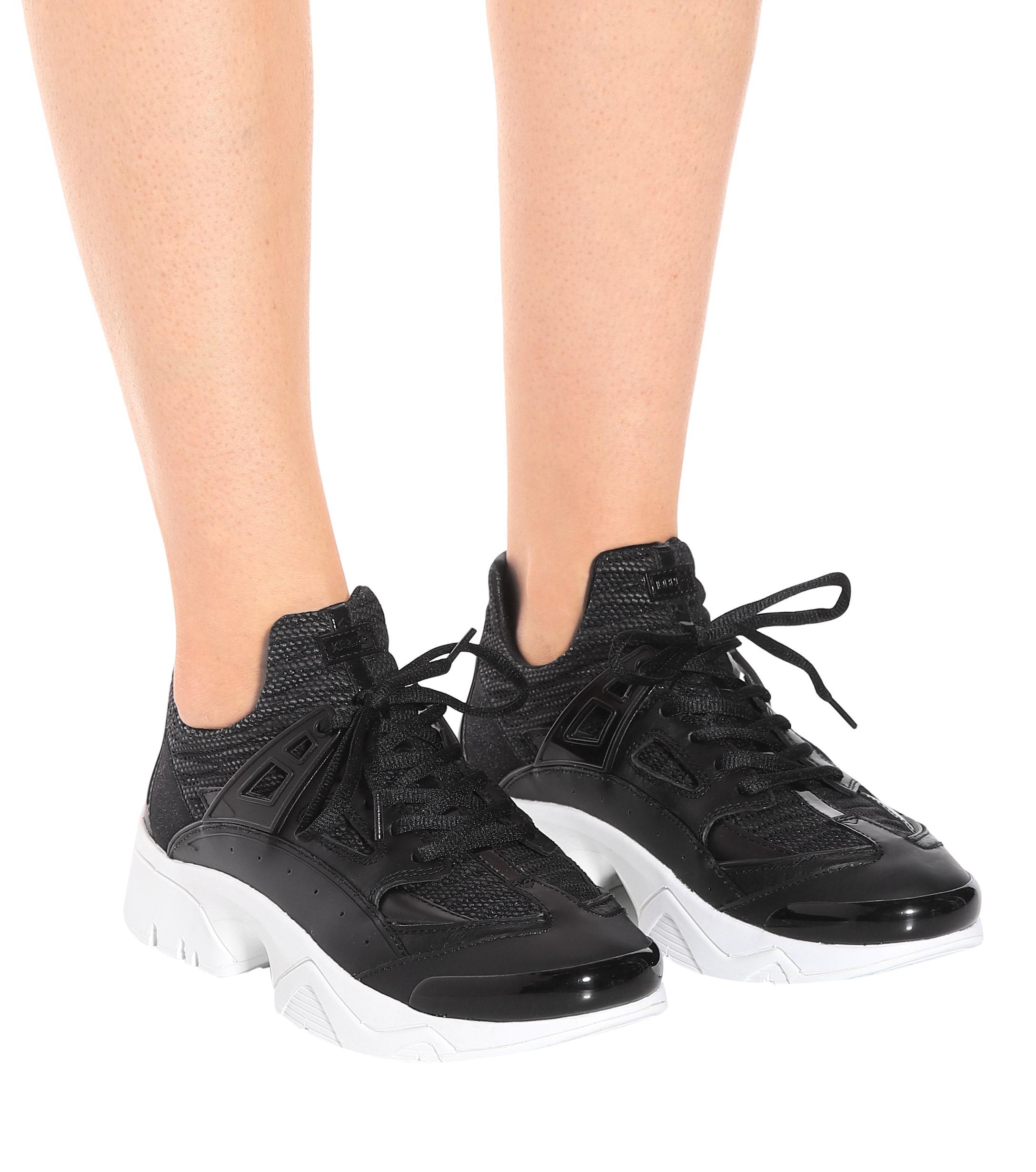 Zapatillas de punto y caucho KENZO de Caucho de color Negro