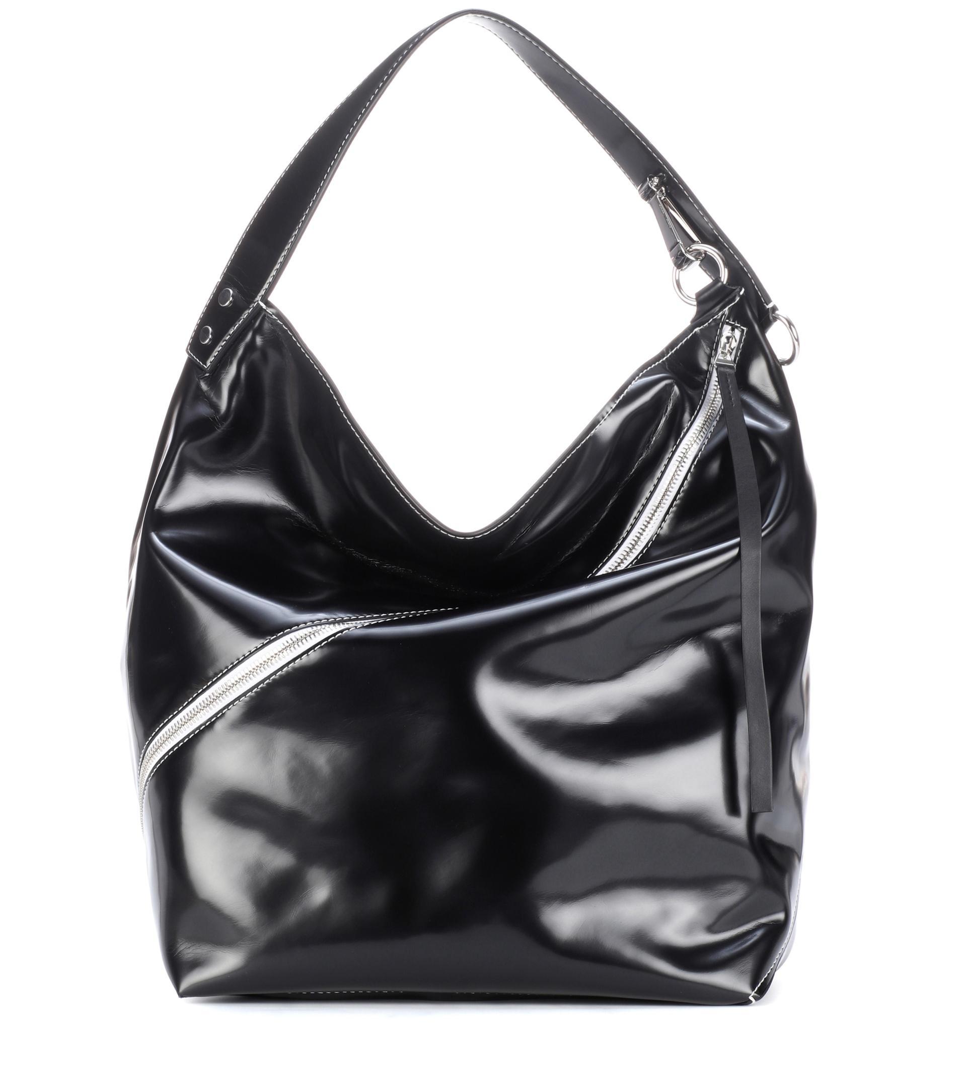 Proenza Schouler Hobo Large Leather Shoulder Bag in Black - Lyst 07d92e8fb5d05