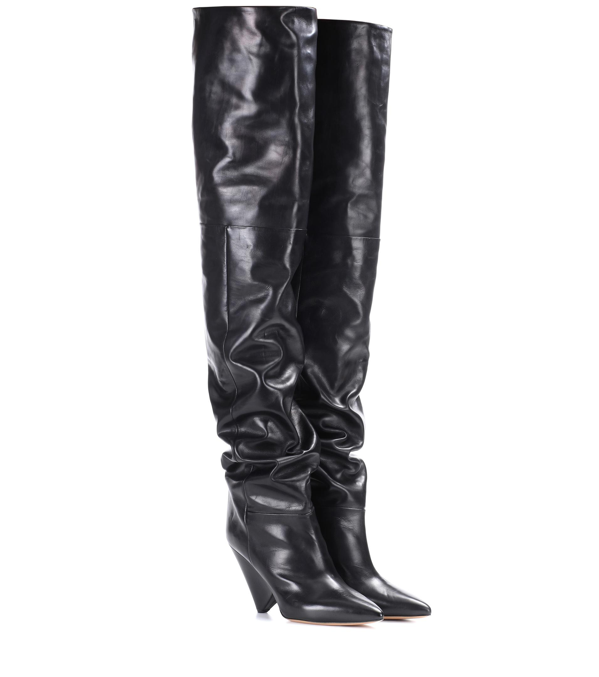3fc13570040 Lyst - Isabel Marant Lostynn Leather Boots in Black