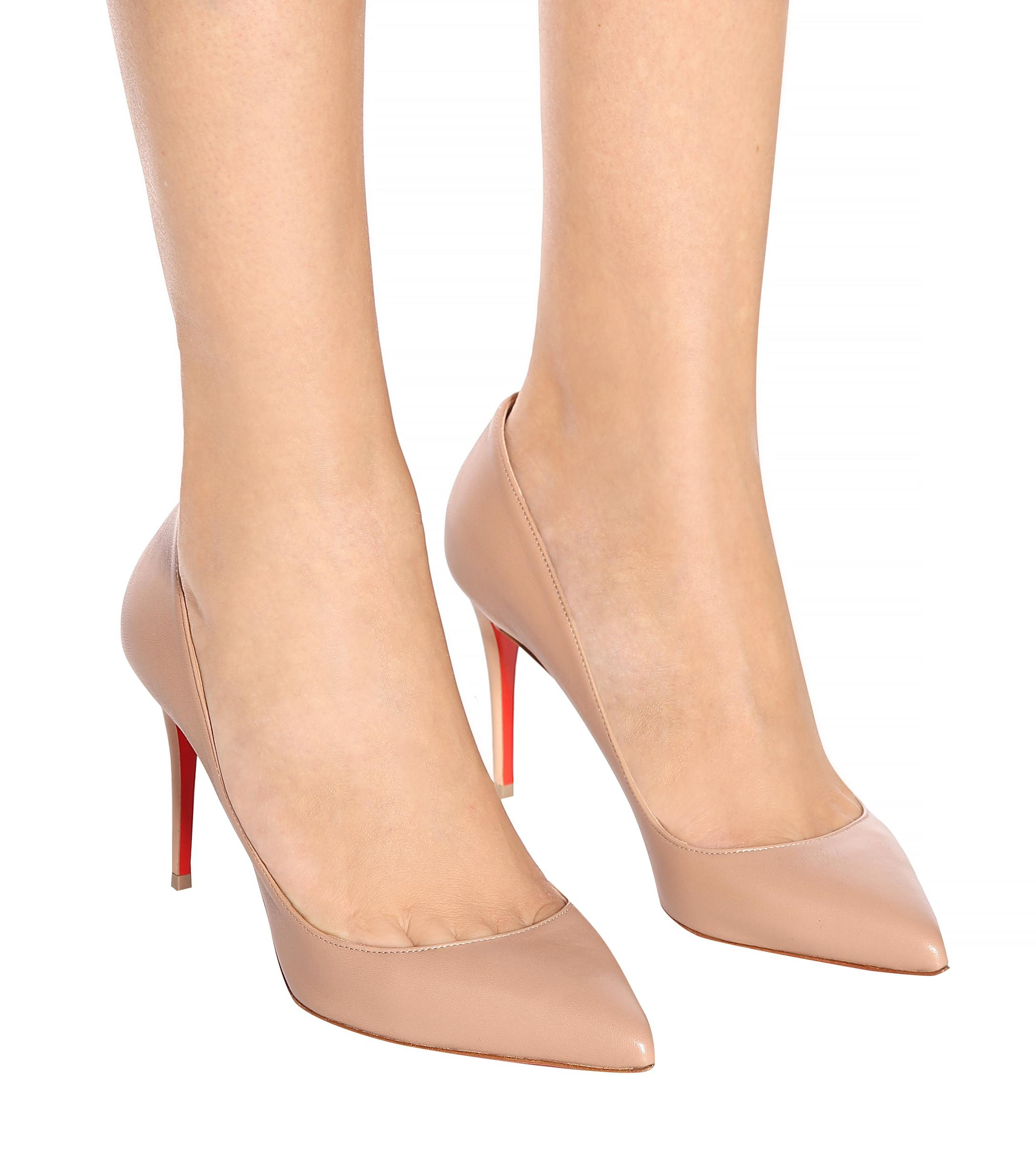 online store 616eb 5ddf3 Women's Natural Pigalle Follies 85 Leather Pumps