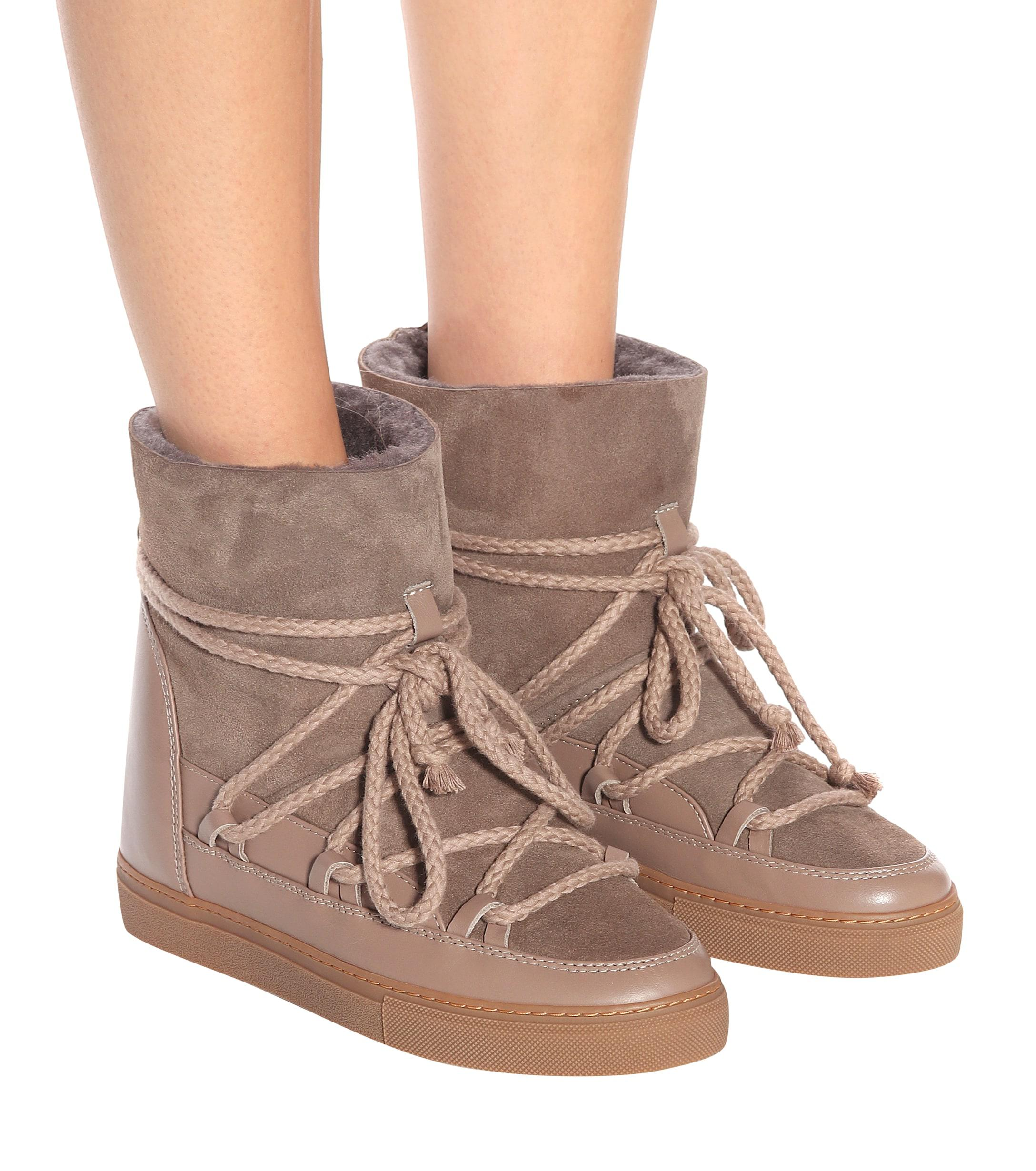 Inuikii Suede And Leather Ankle Boots