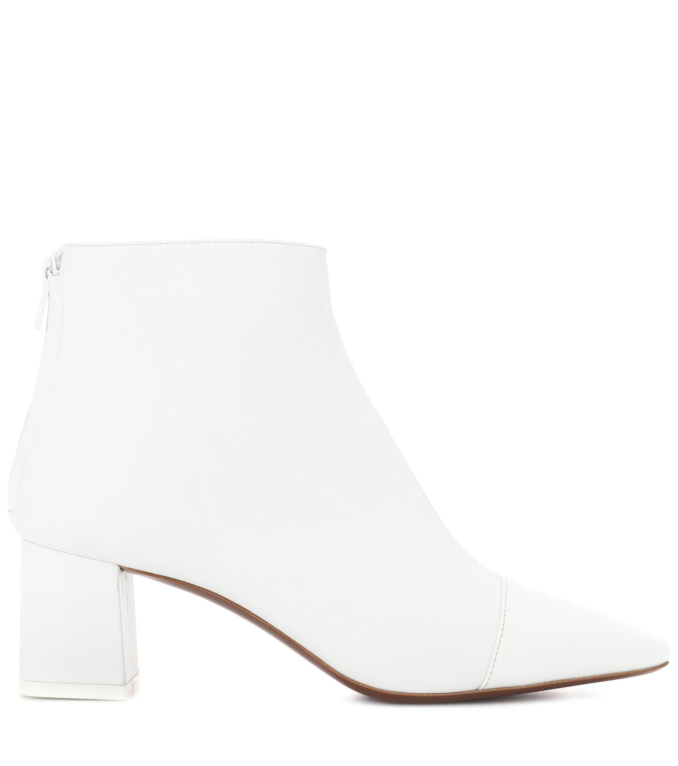 Neous Alaska Leather Ankle Boots in White
