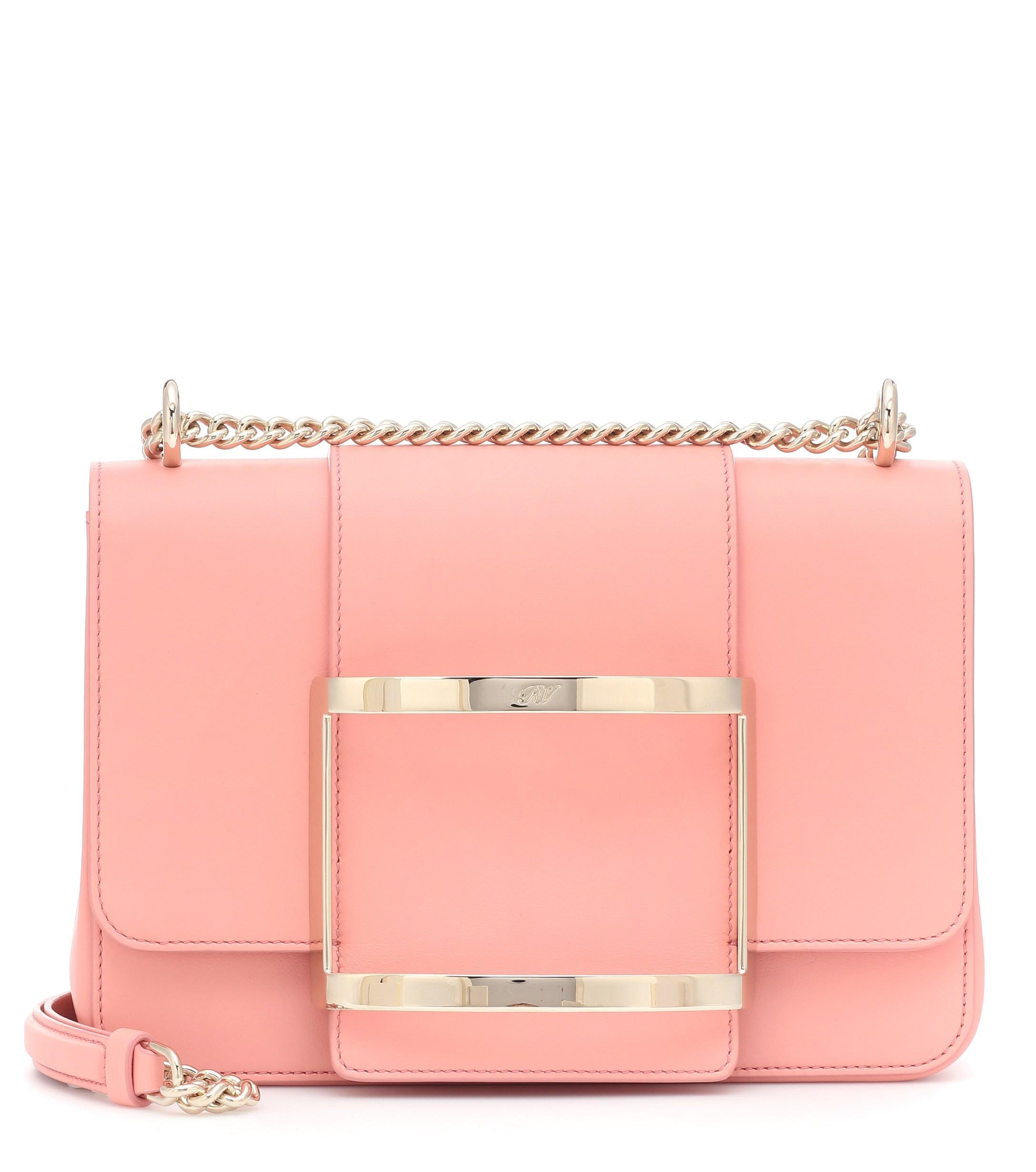 Lyst - Roger Vivier Très Vivier Small Shoulder Bag in Pink cd573829a31dd