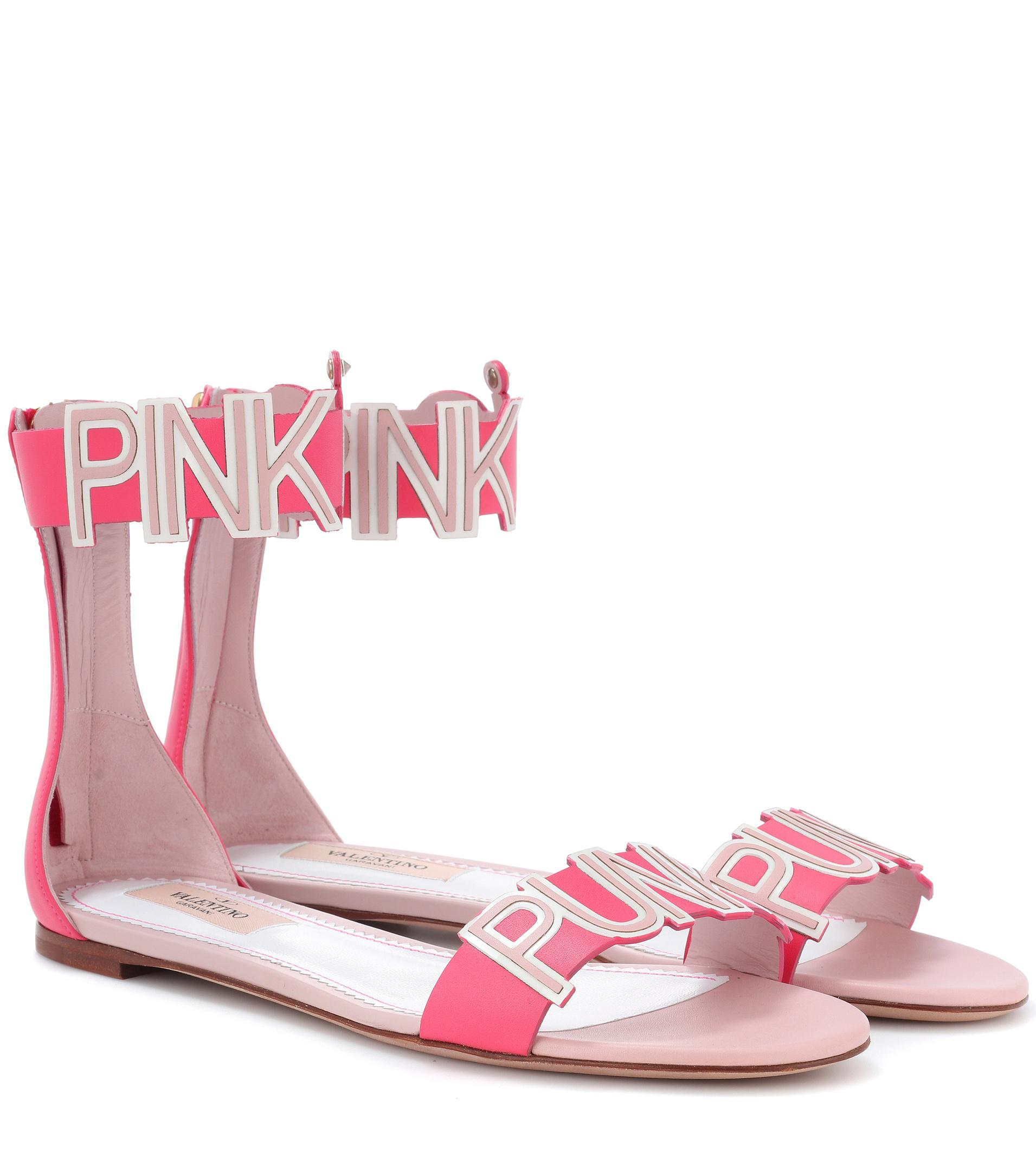f8aeead70 Valentino Pink Is Punk Sandals in Pink - Lyst