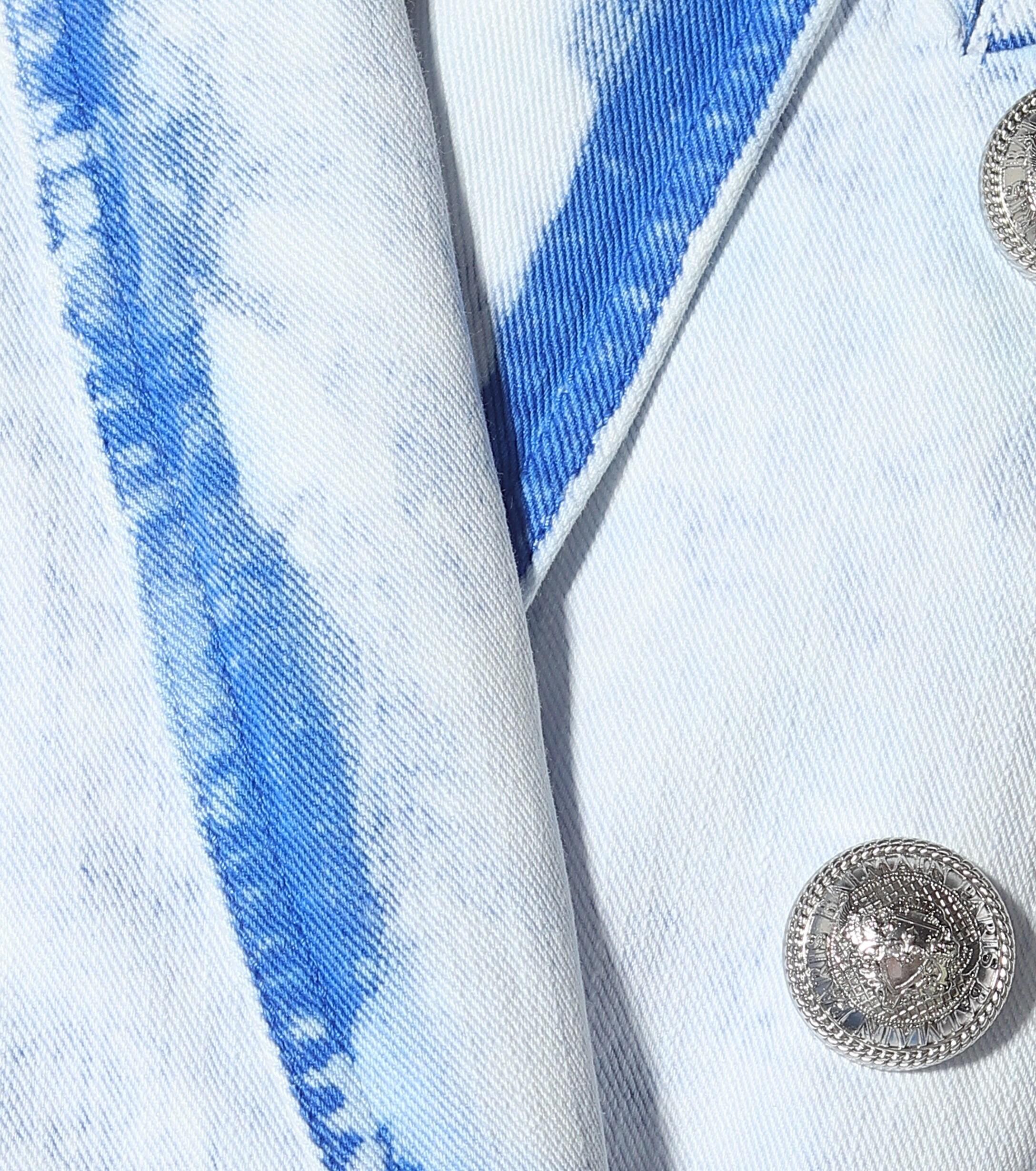 Blazer en jean Jean Balmain en coloris Bleu